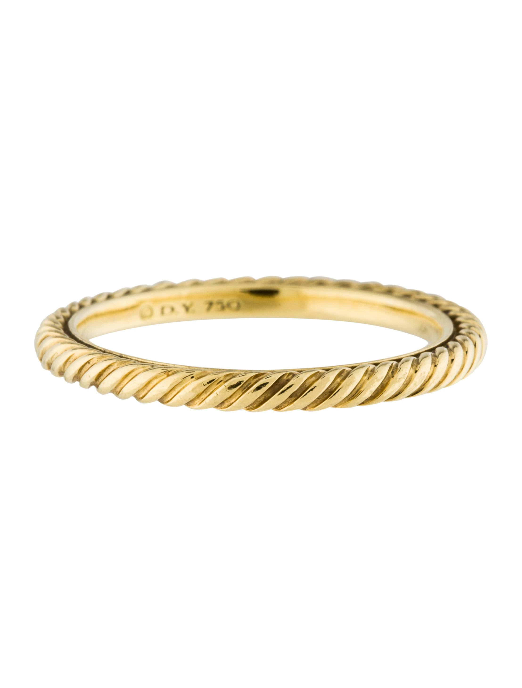 David yurman 18k cable classic band ring rings for David yurman inspired jewelry rings