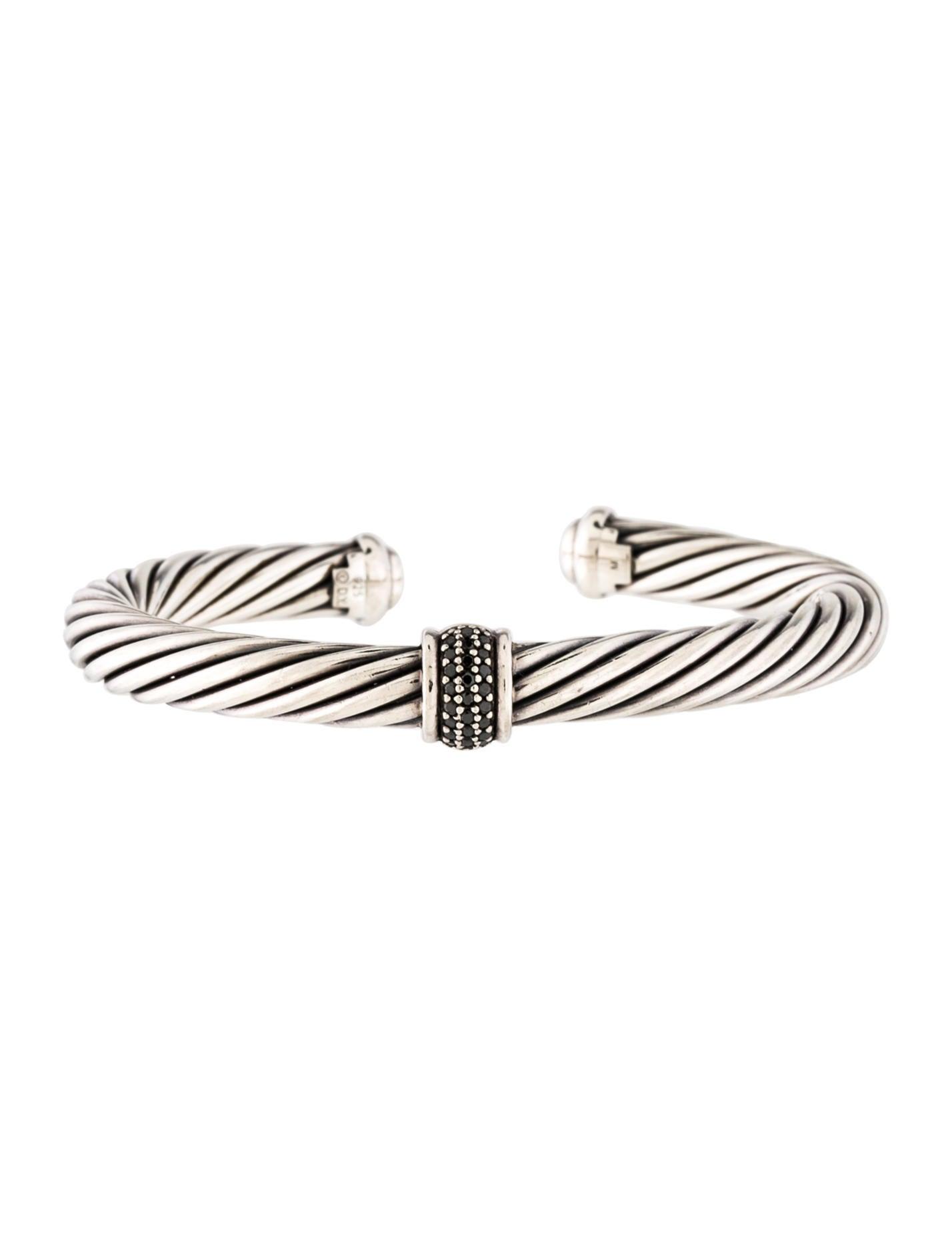 david yurman black diamond cable classics cuff bracelets