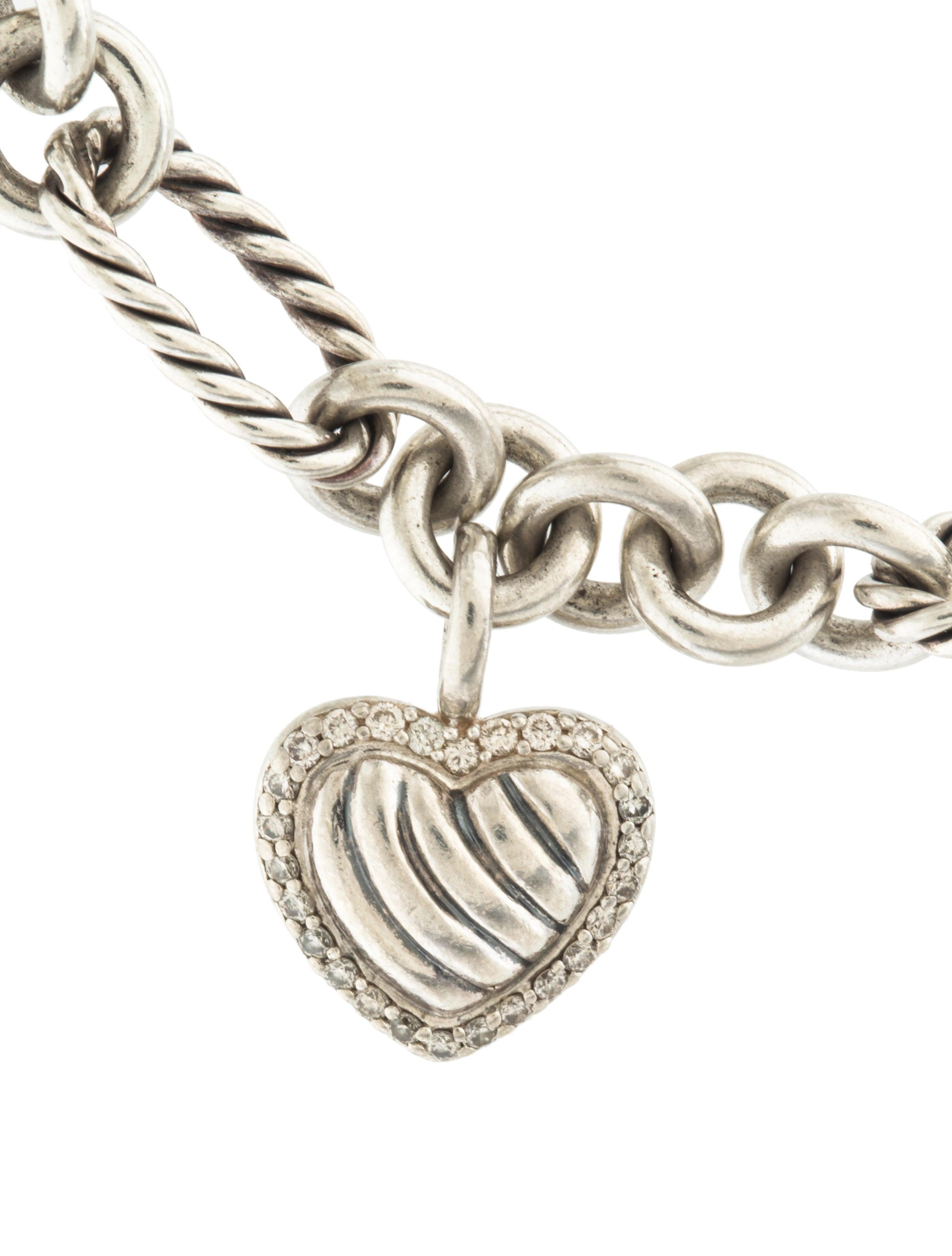 david yurman diamond heart charm bracelet bracelets
