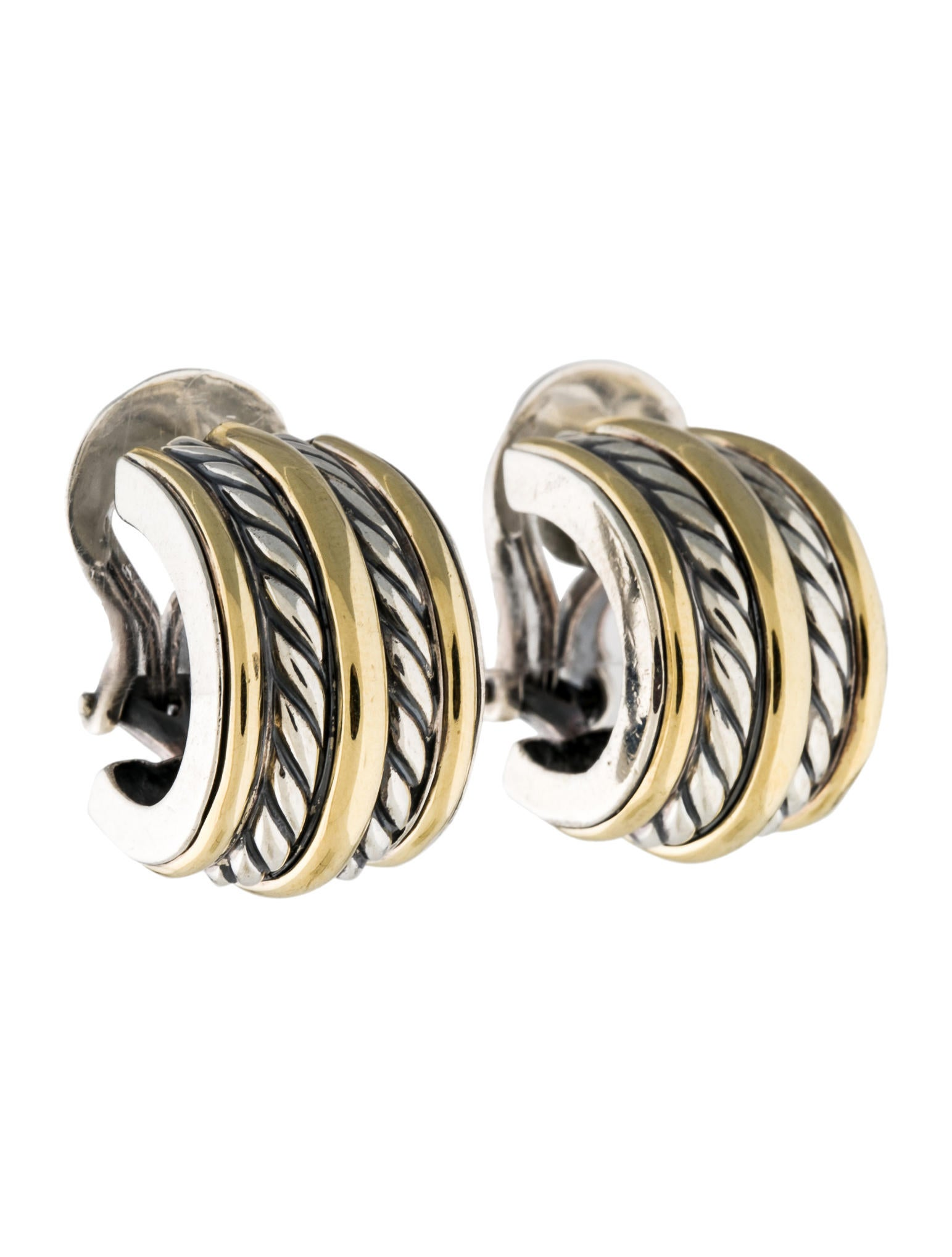 david yurman earrings sale david yurman two tone cable clip on earrings earrings 4079