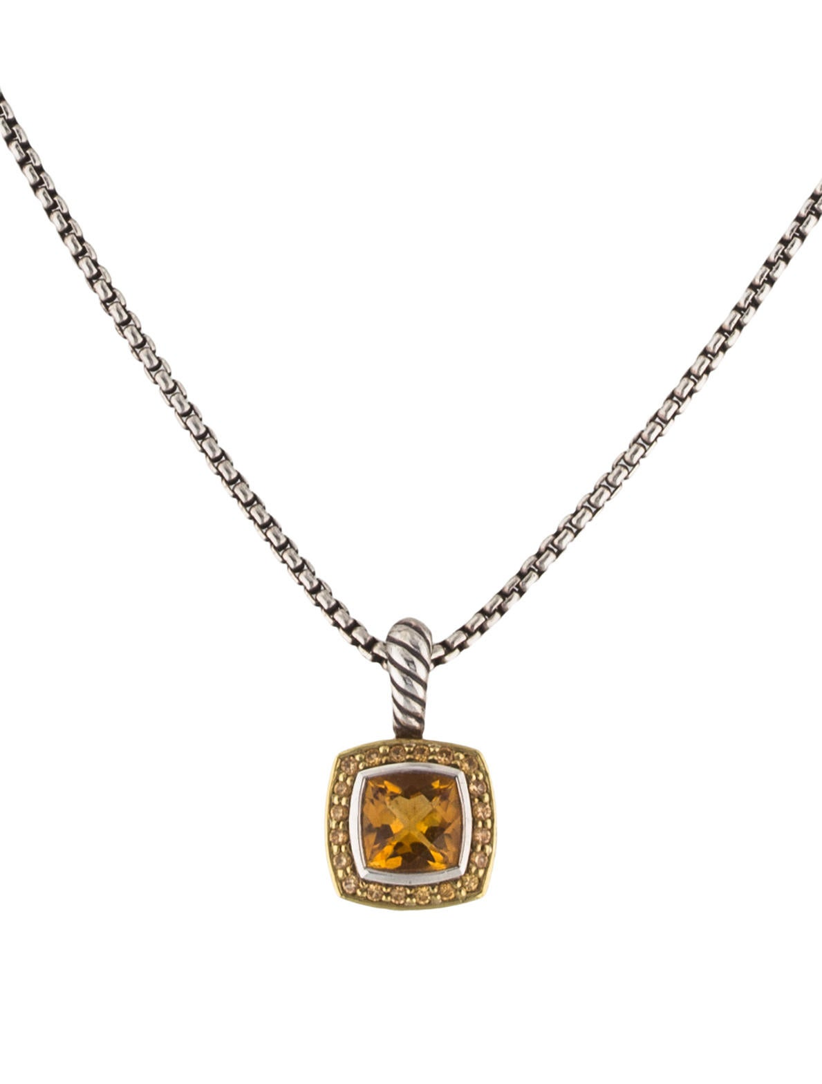 necklaces gemstone white halo trillion ys and pendant pid gold cut yellow sapphire pendants
