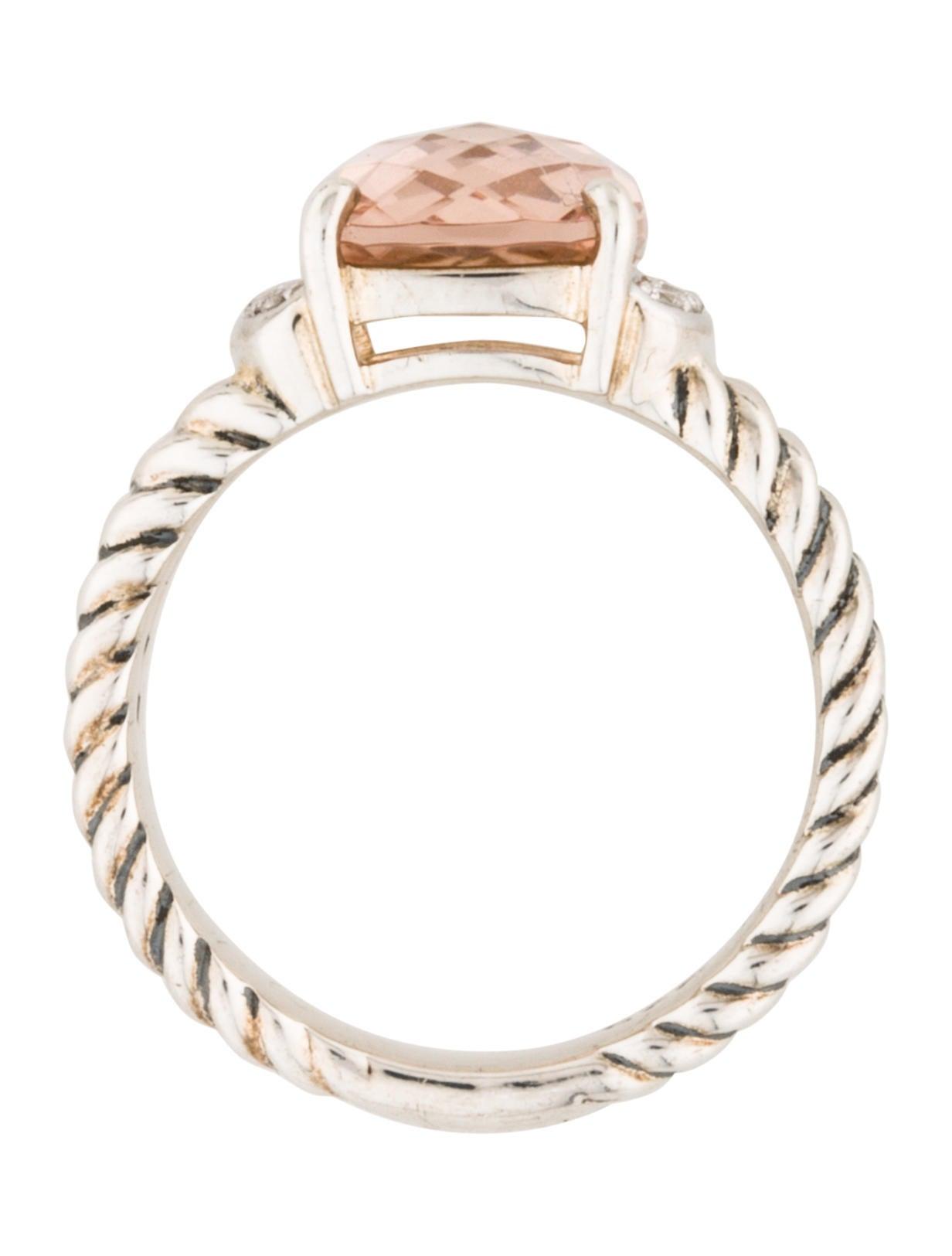 David Yurman Morganite Amp Diamond Petite Wheaton Ring