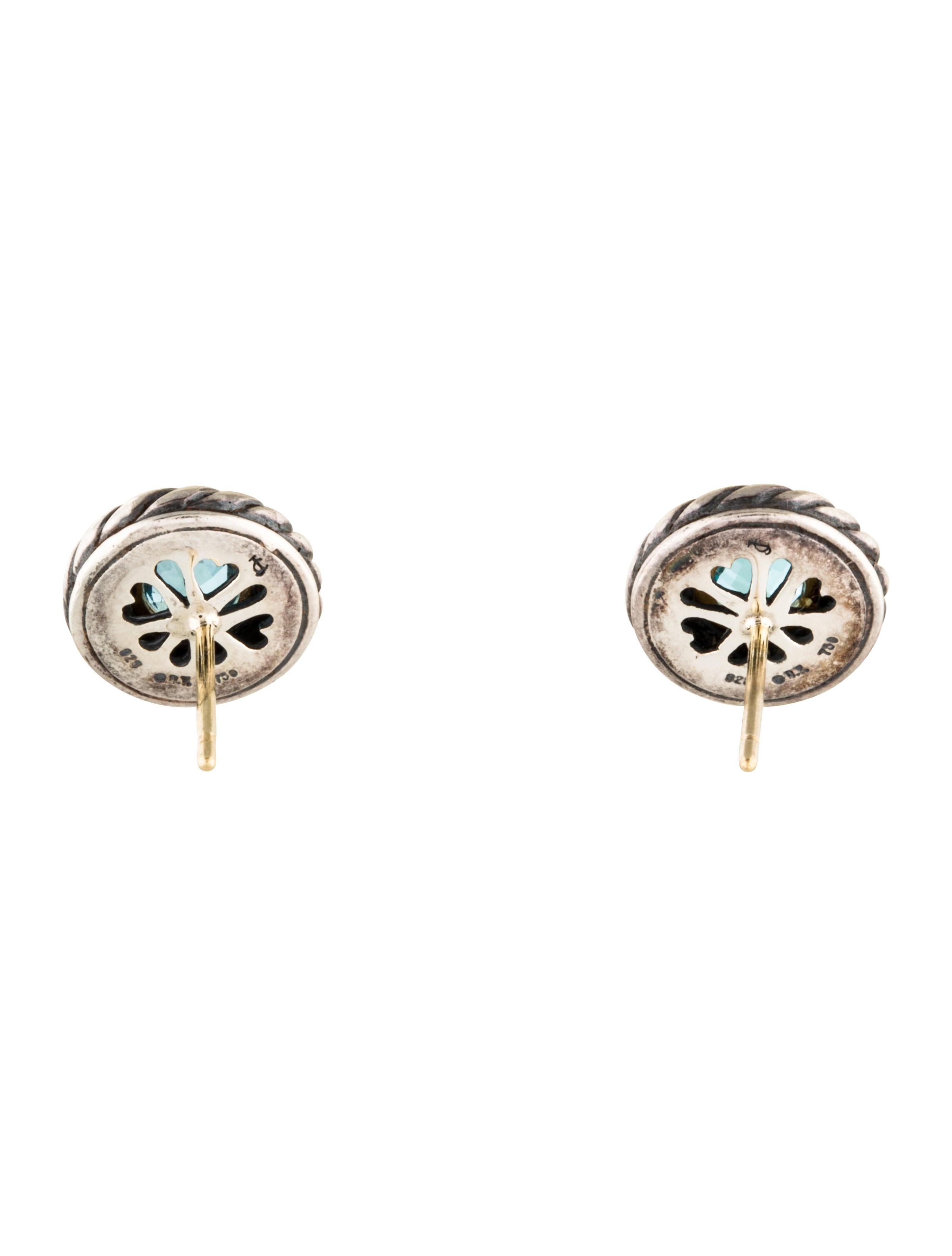David Yurman Topaz Cookie Stud Earrings Earrings DVY