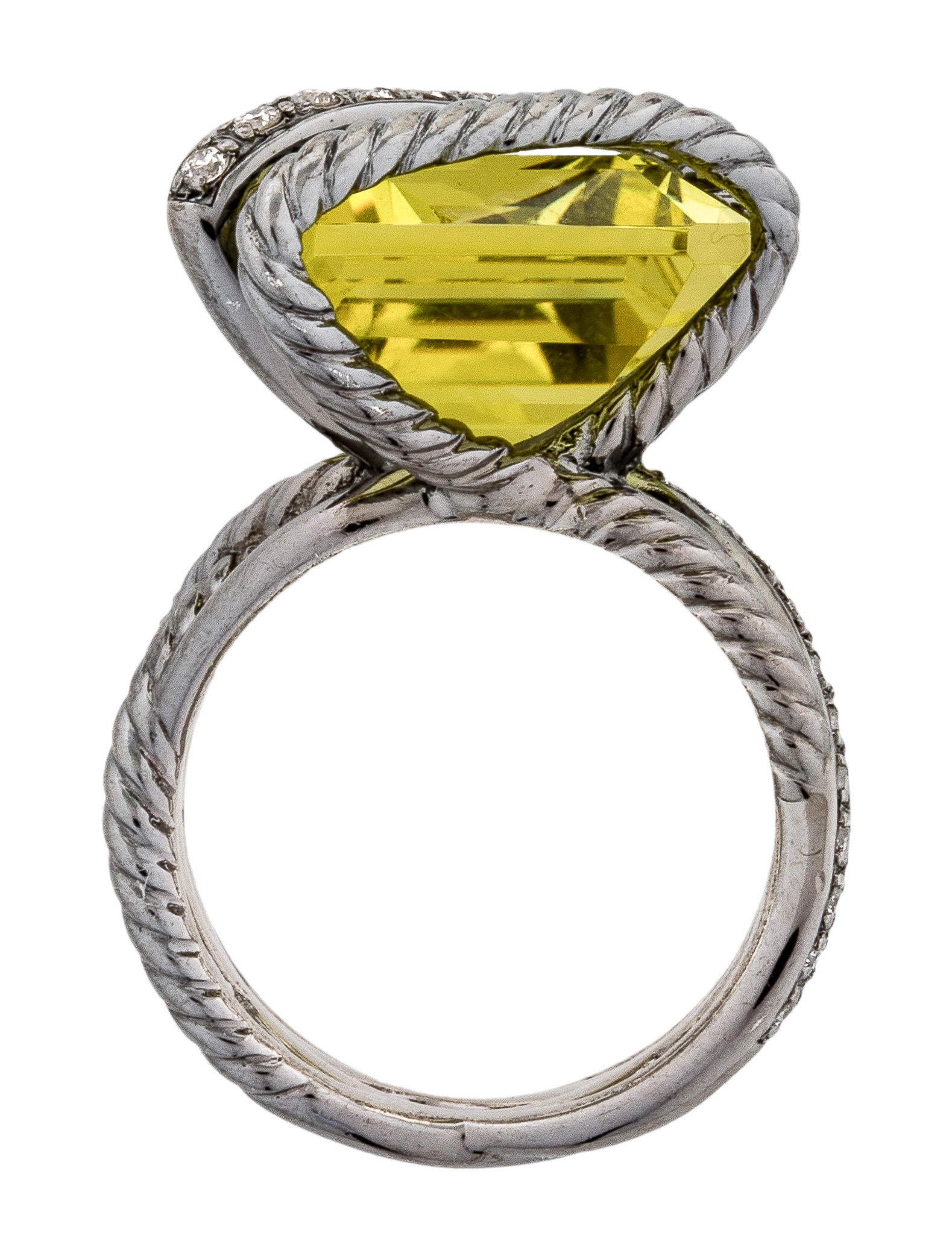 David Yurman Diamond Amp Quartz Cable Wrap Ring Rings