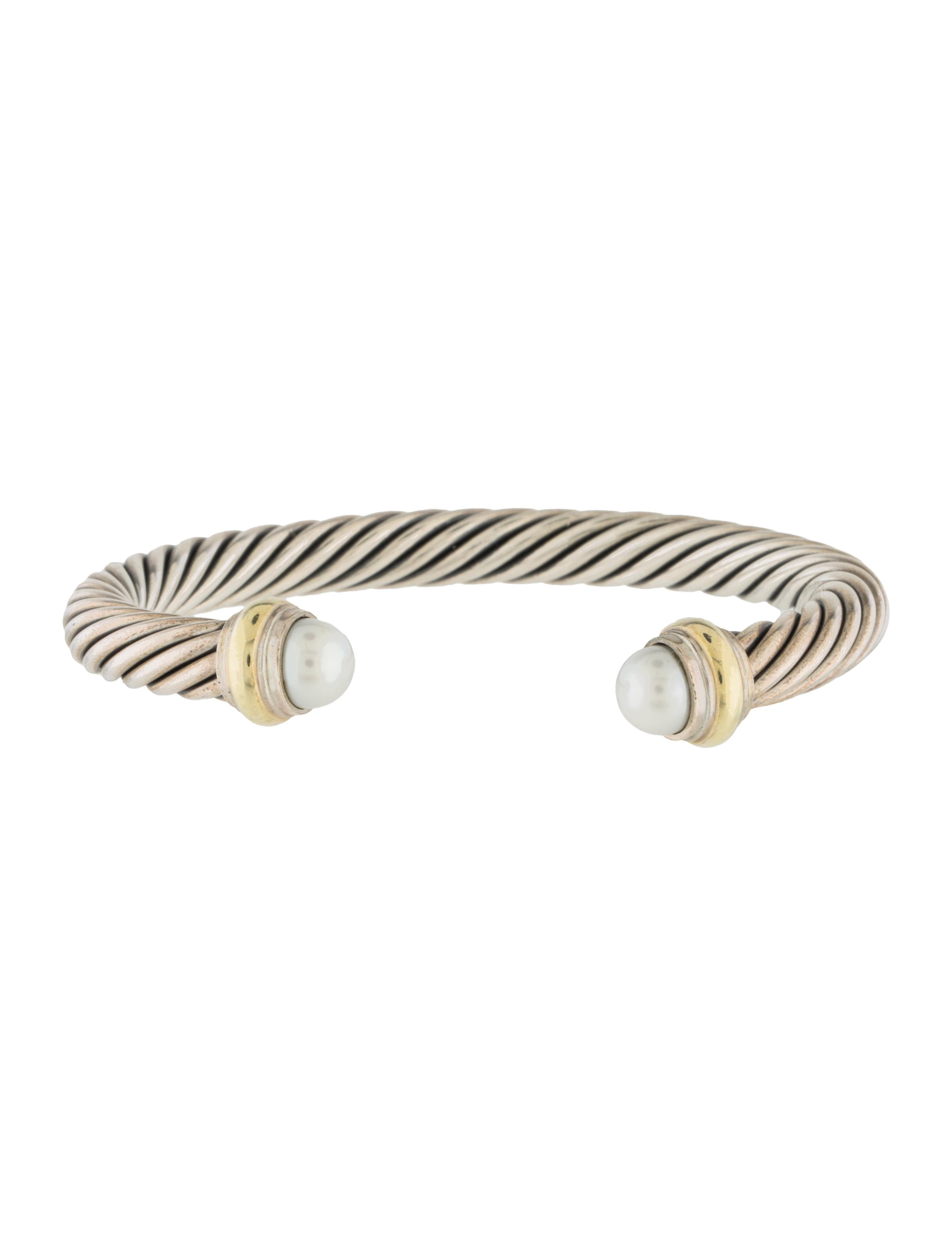 David yurman pearl cable classics bracelet bracelets for David yurman inspired bracelet cable