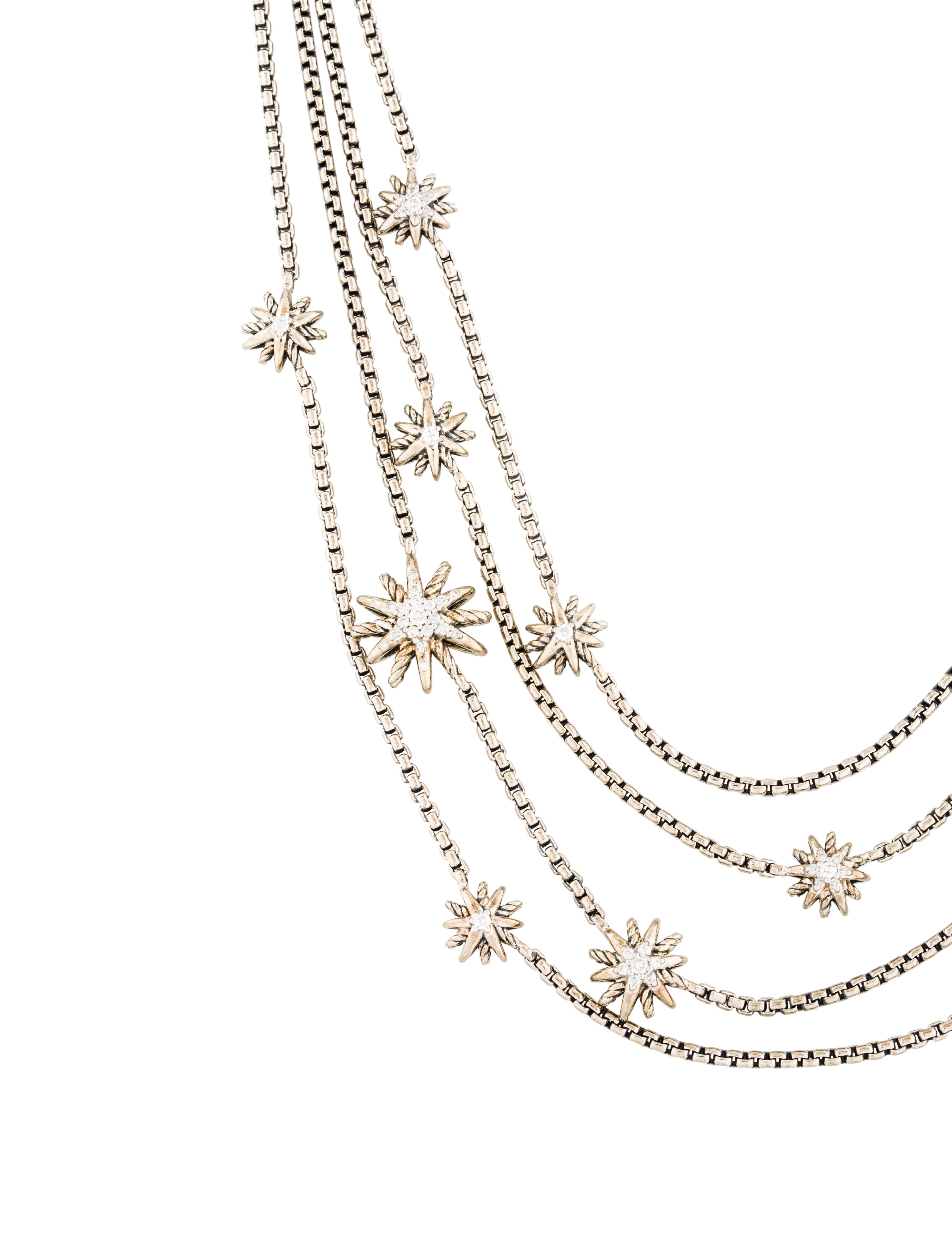 David Yurman Diamond Starburst Multistrand Necklace