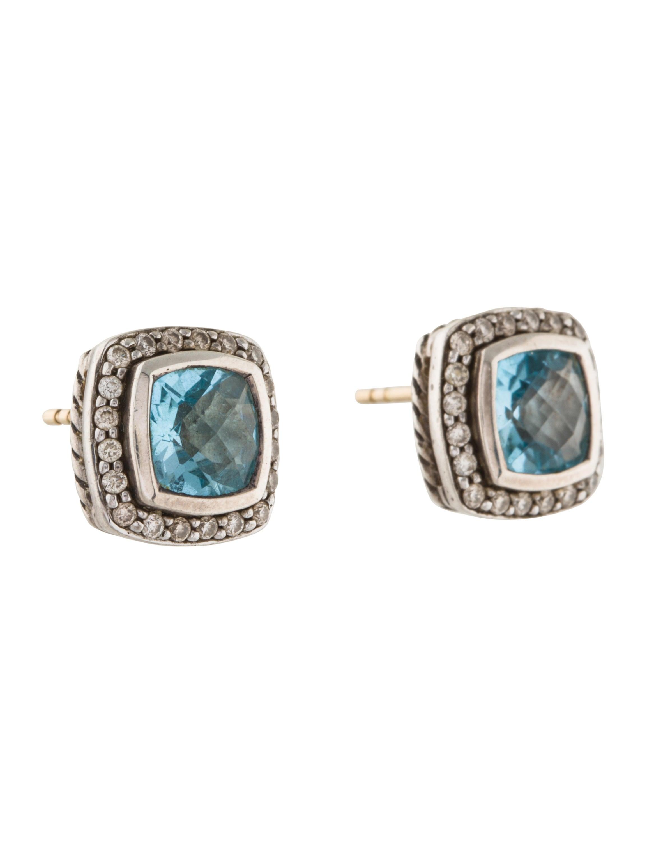 David Yurman Diamond amp Topaz Petite Albion Stud Earrings  : DVY407713enlarged from www.therealreal.com size 2307 x 3043 jpeg 182kB