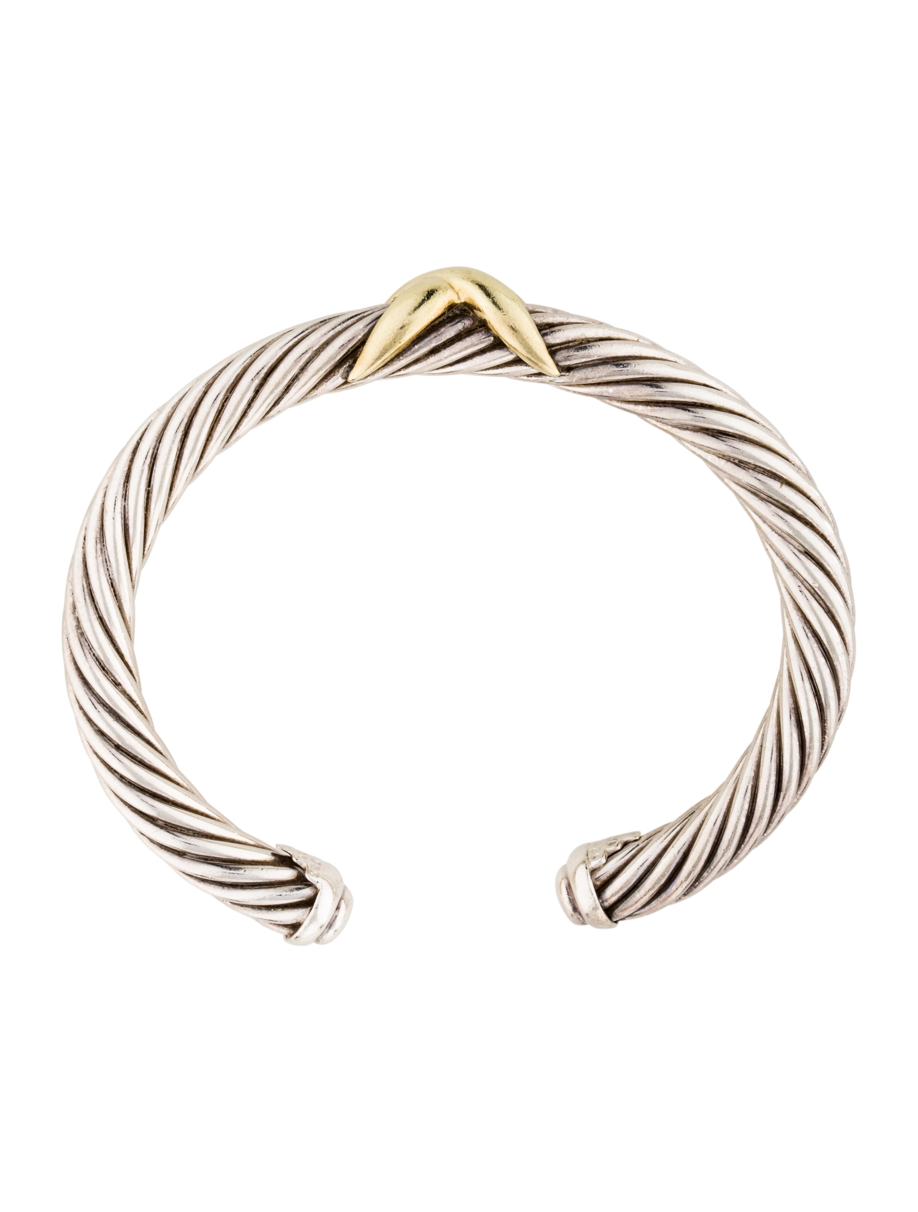 David yurman two tone x cable bracelet bracelets for David yurman inspired bracelet cable