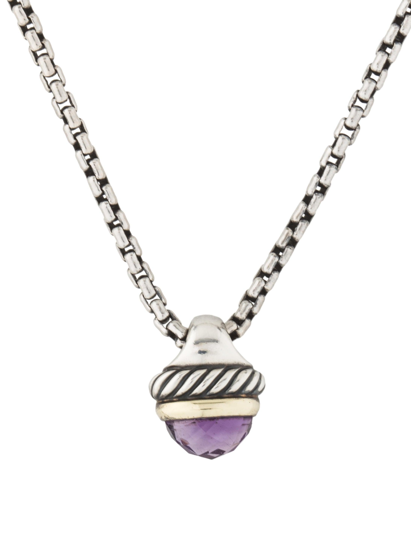 David yurman amethyst acorn pendant necklace necklaces amethyst acorn pendant necklace mozeypictures Image collections