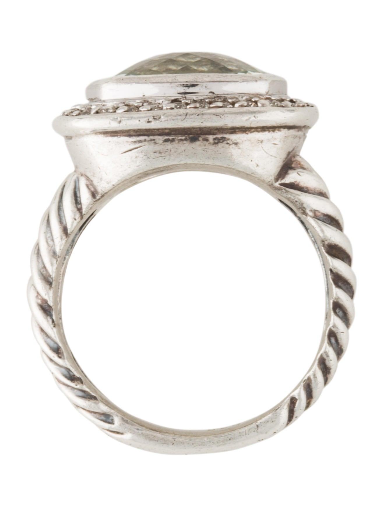 david yurman albion ring with diamonds prasiolite