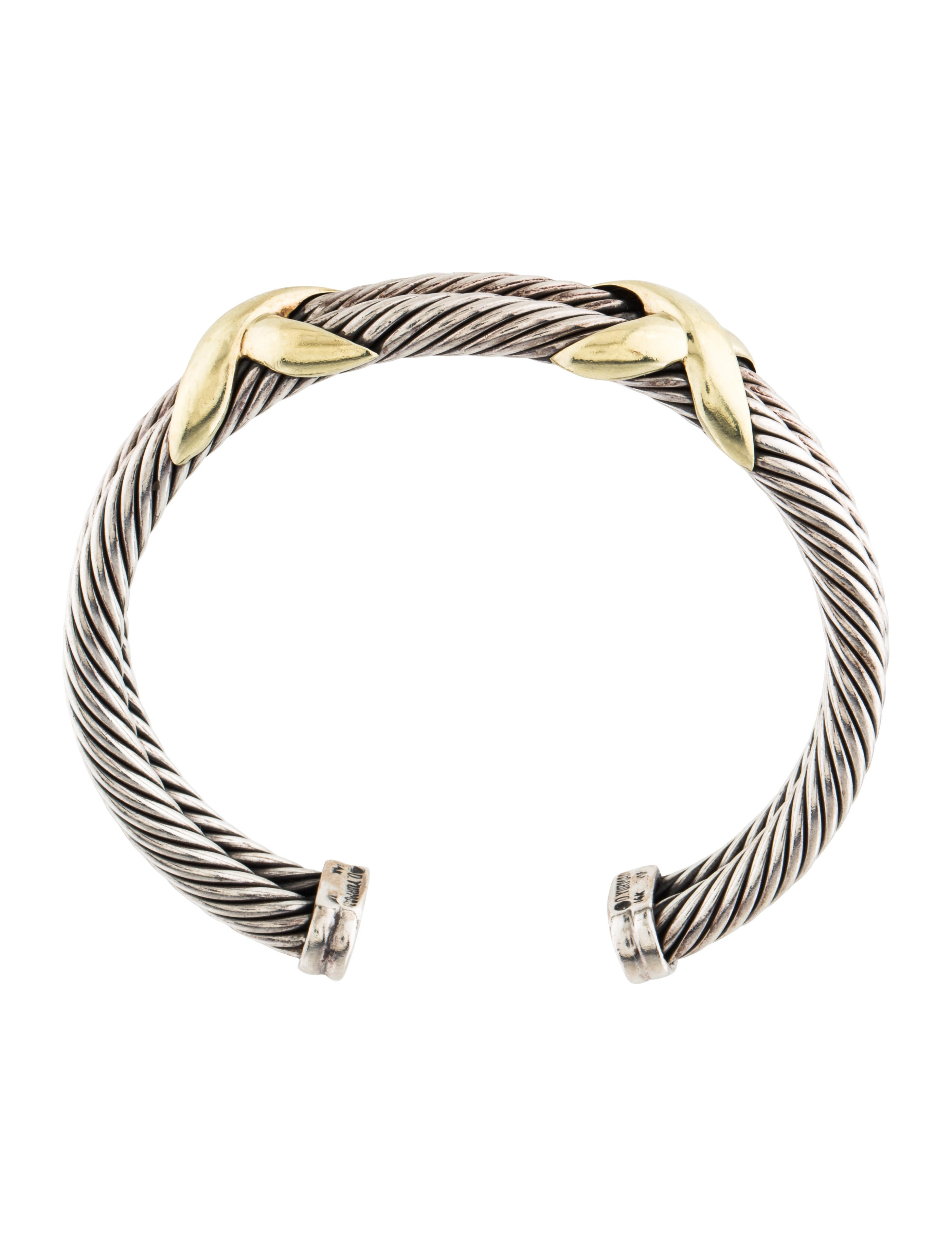 David yurman cable classics double x cuff bracelet for David yurman inspired bracelet cable