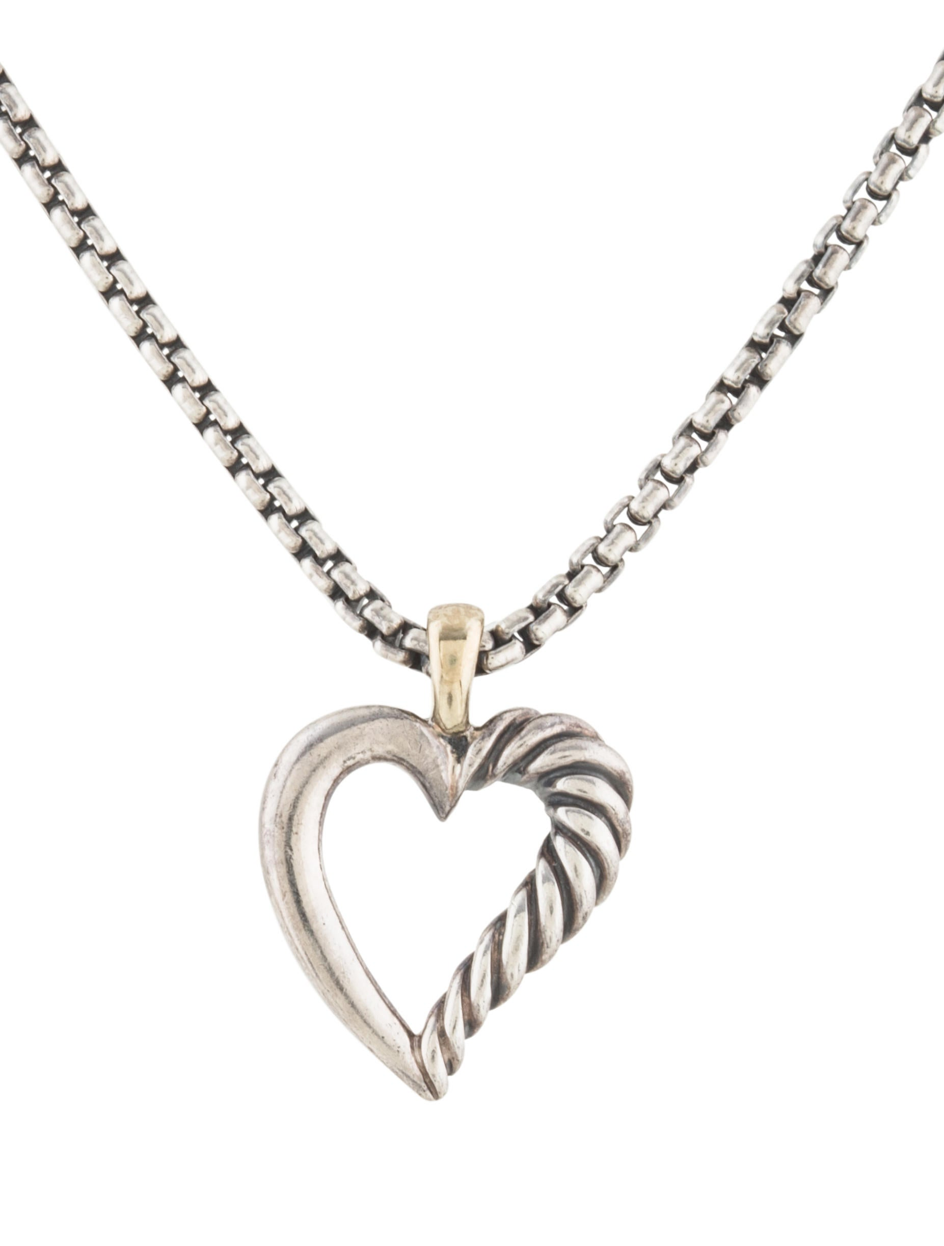 david yurman mini cable heart pendant necklace necklaces. Black Bedroom Furniture Sets. Home Design Ideas