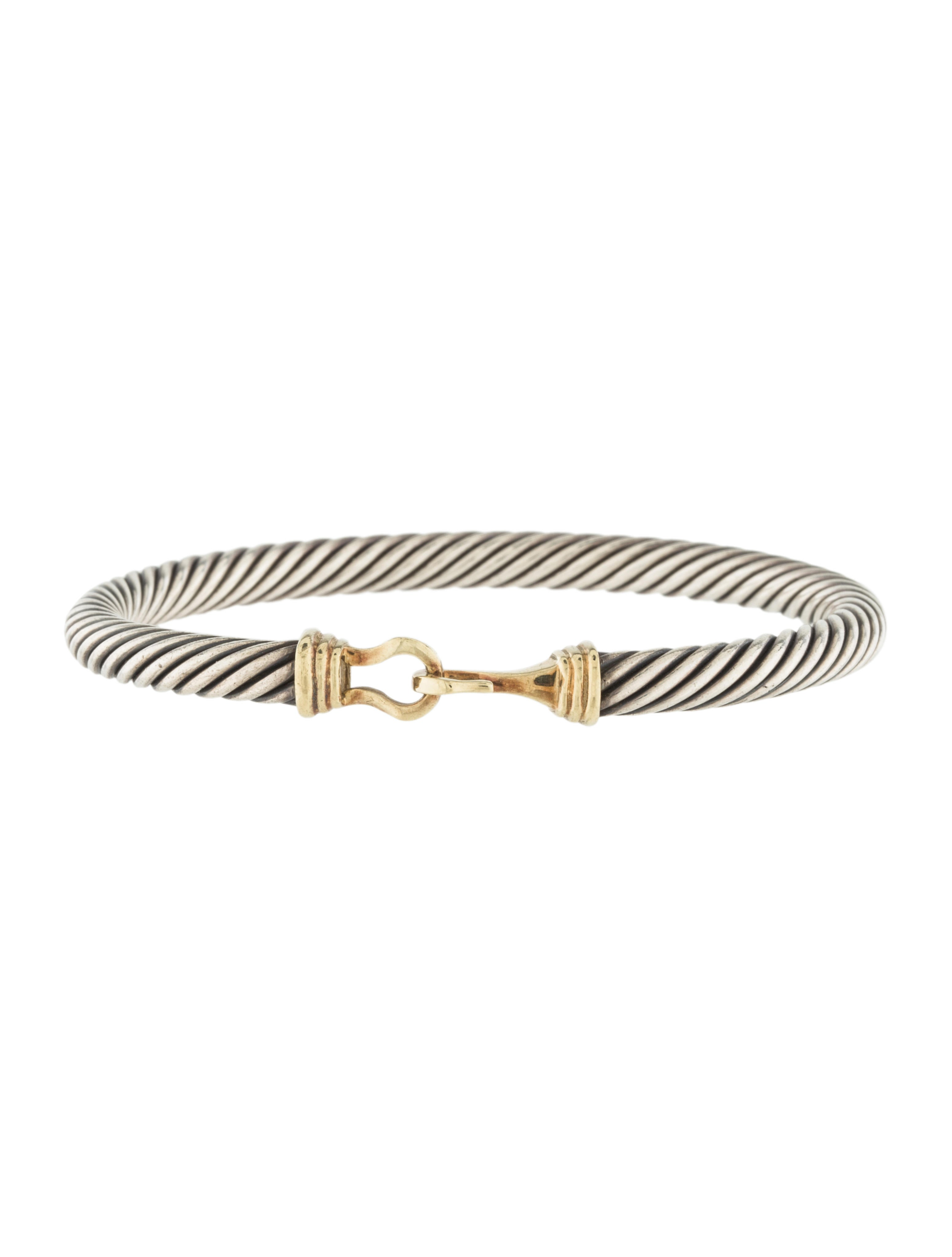 David yurman two tone cable buckle bracelet bracelets for David yurman inspired bracelet cable