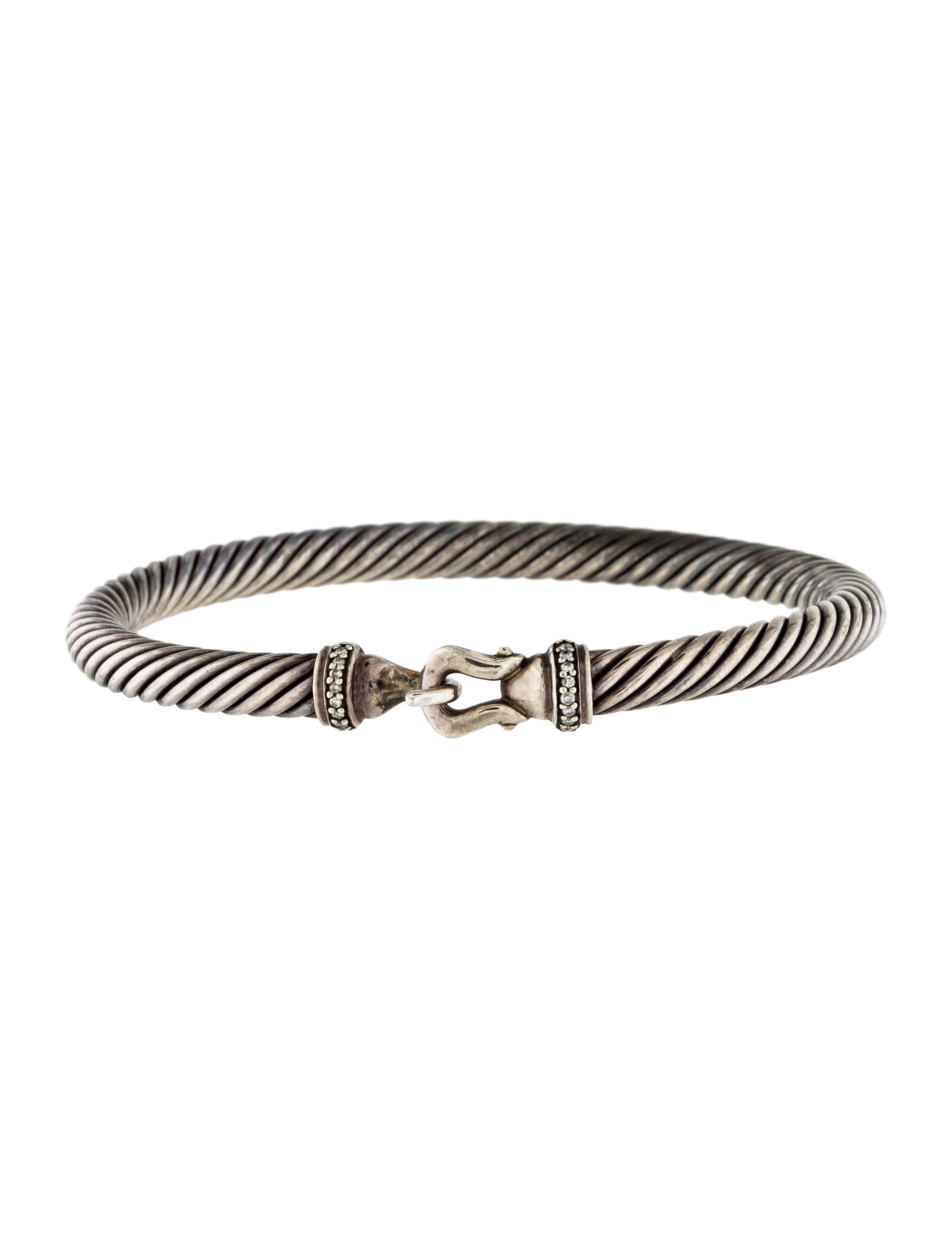 David yurman diamond cable buckle bracelet bracelets for David yurman inspired bracelet cable