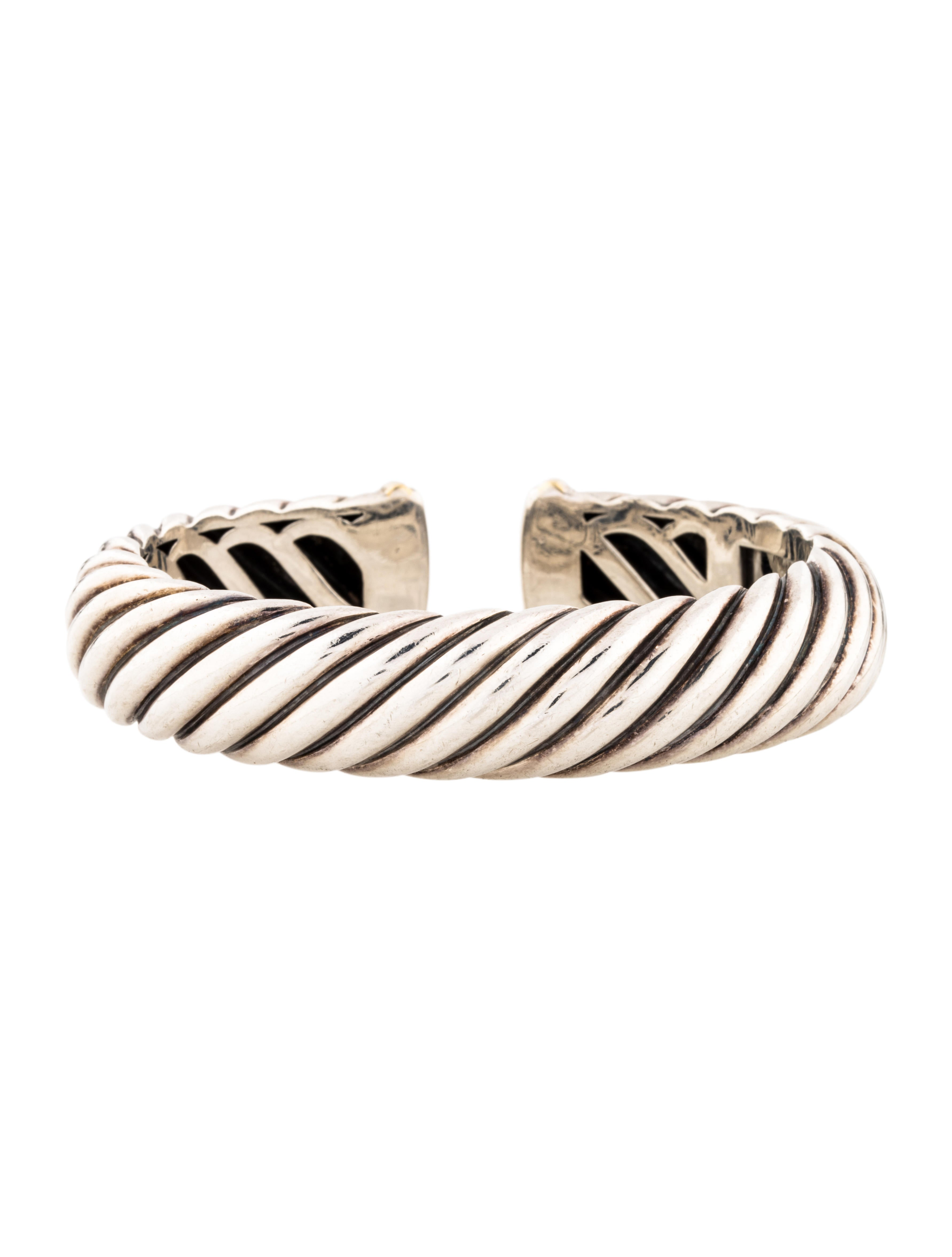David yurman sculpted cable cuff bracelets dvy41327 for David yurman inspired bracelet cable