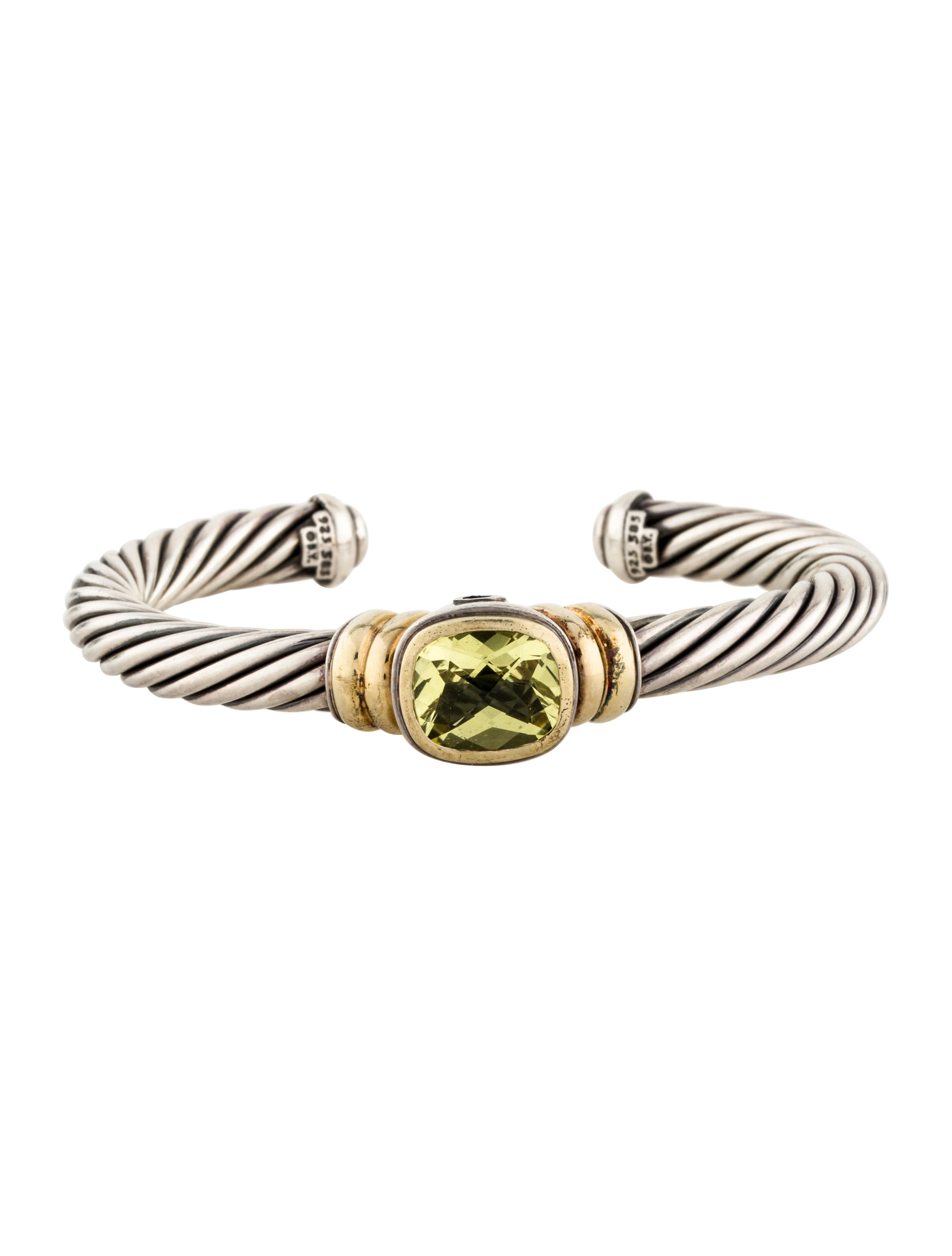 David yurman peridot cable cuff bracelet bracelets for David yurman inspired bracelet cable