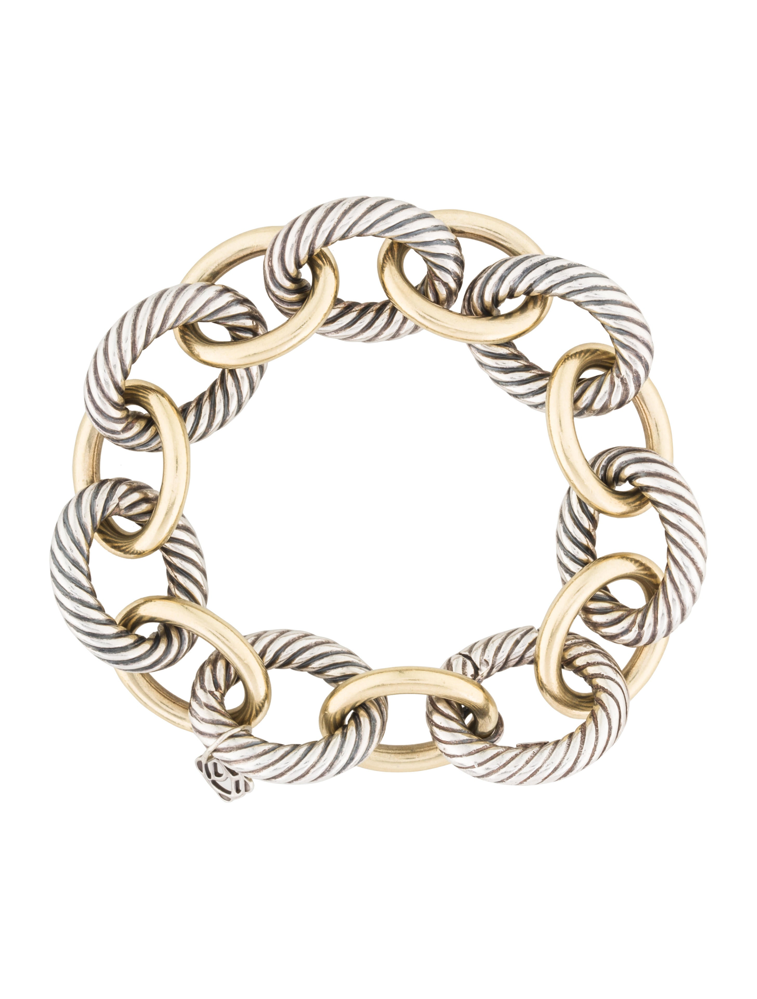 david yurman oval link bracelet david yurman two tone oval large link bracelet 3421