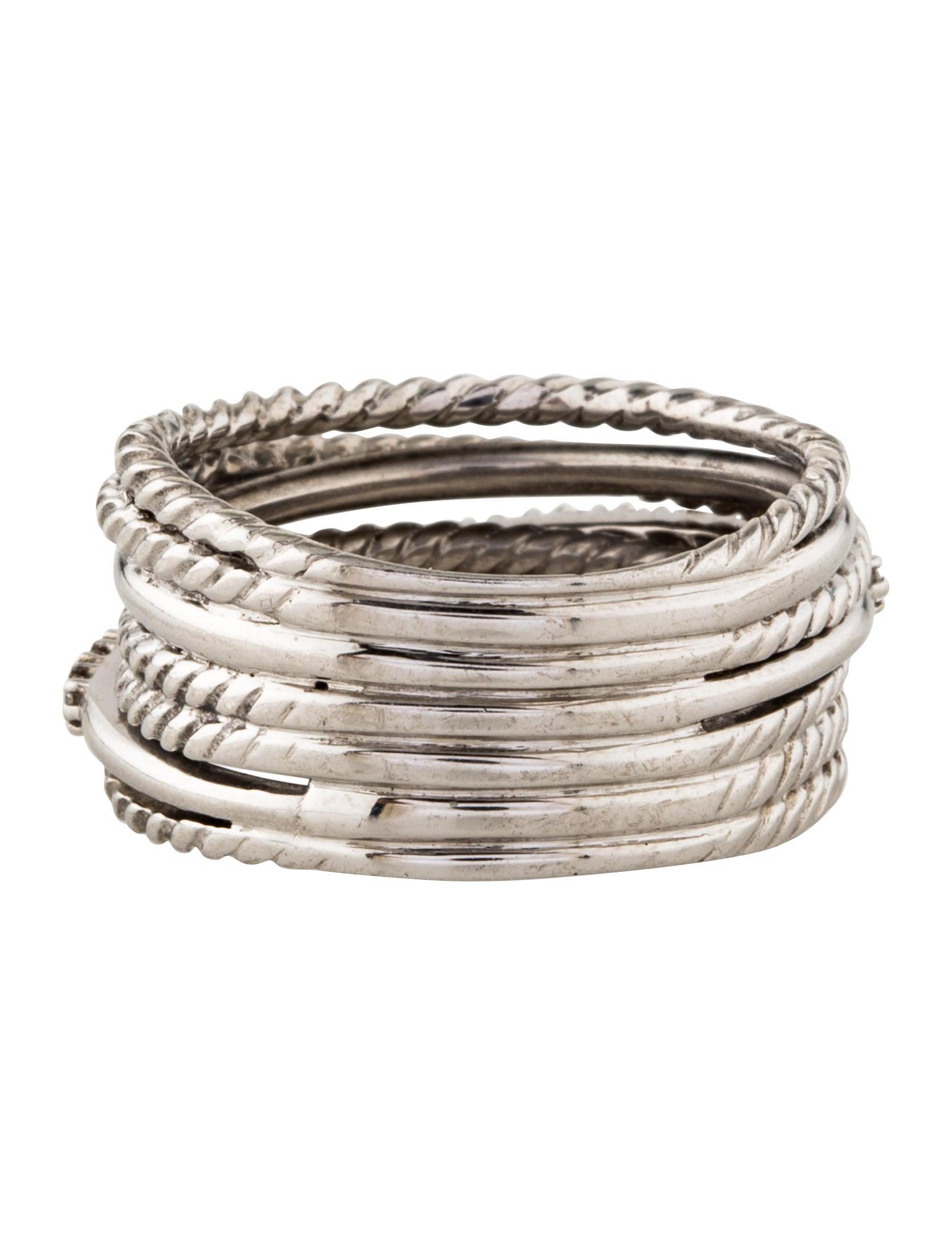 david yurman 14k crossover wide ring w tags