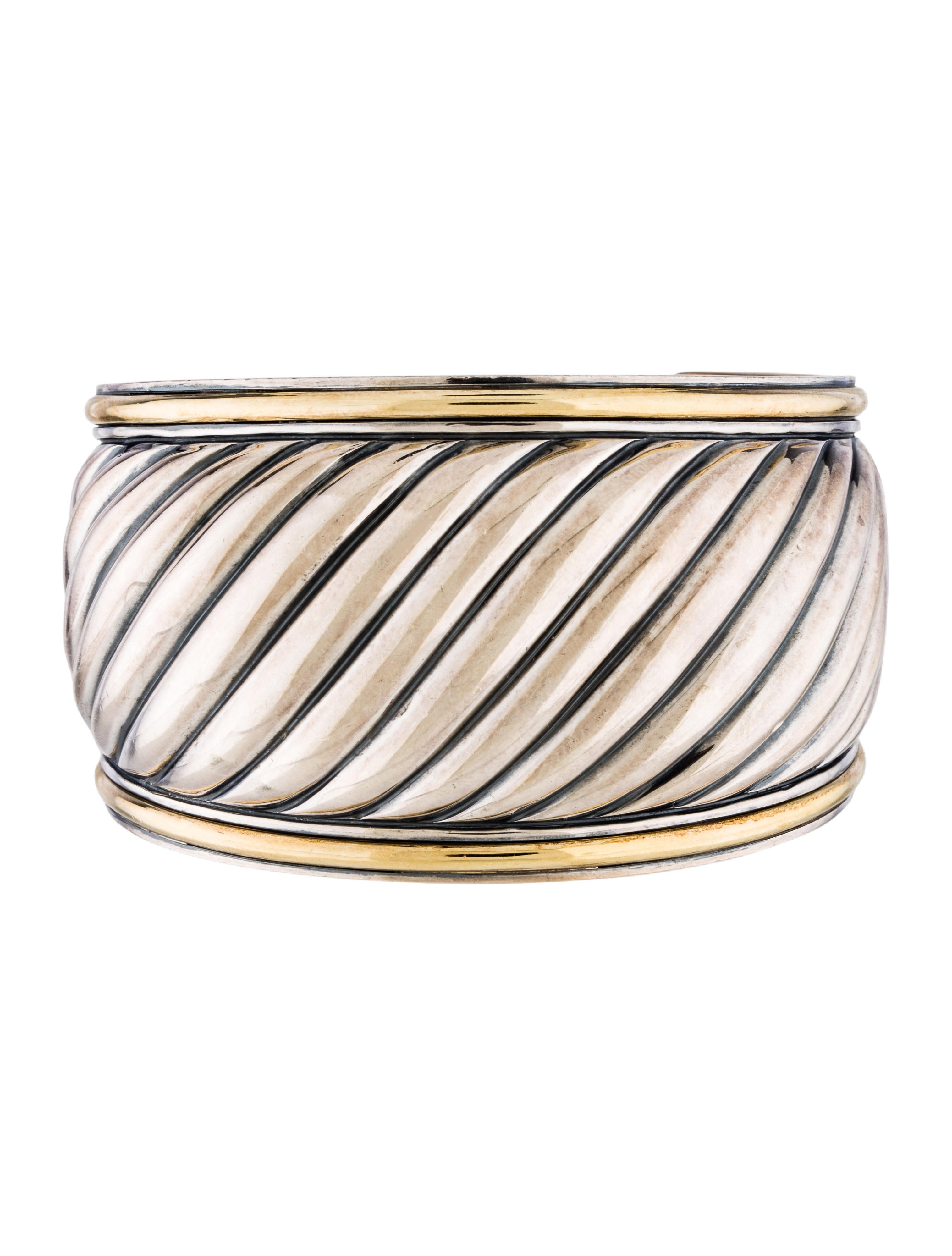 David yurman sculpted cable cuff bracelet bracelets for David yurman inspired bracelet cable
