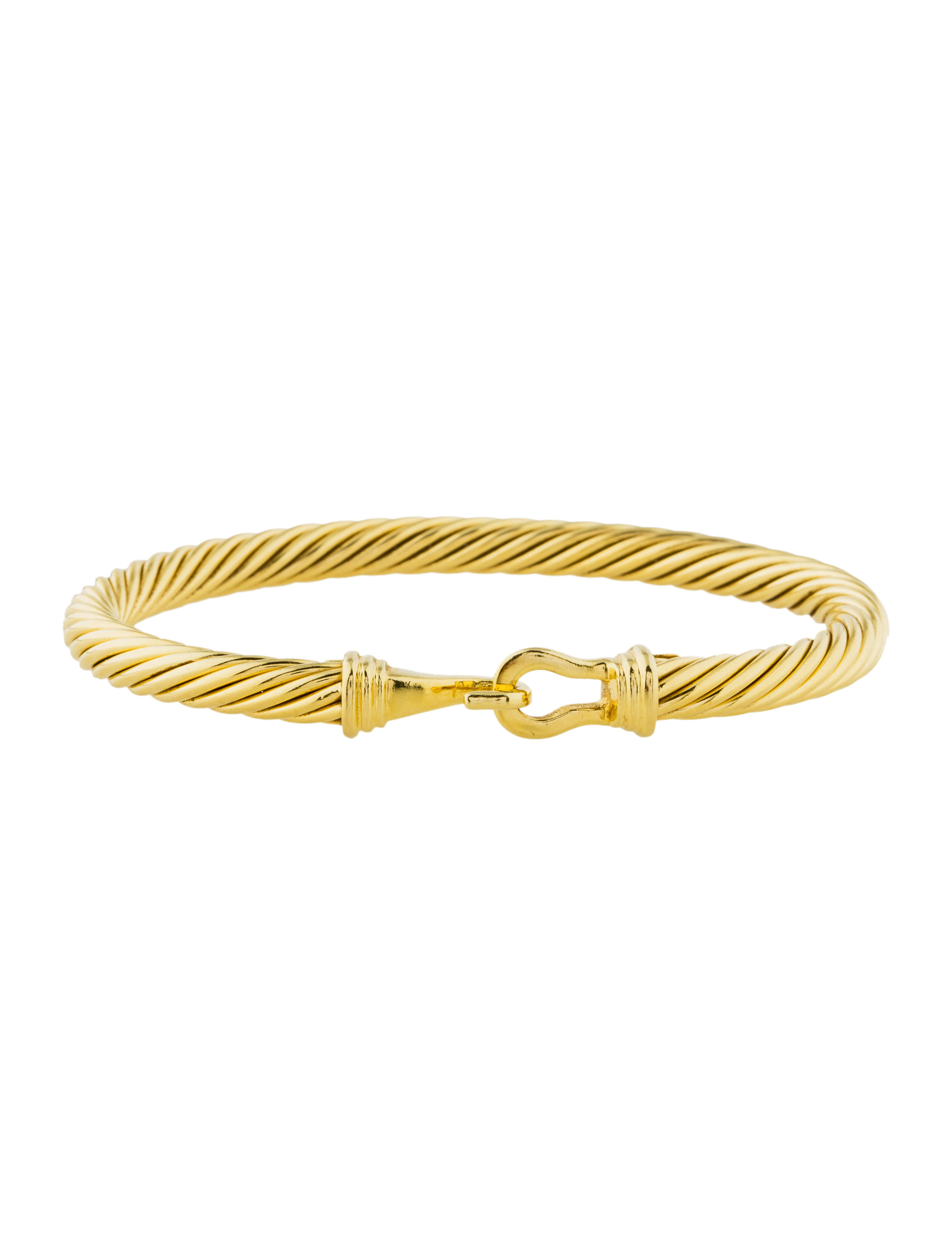 David yurman 18k cable classic buckle bracelet bracelets for David yurman inspired bracelet cable