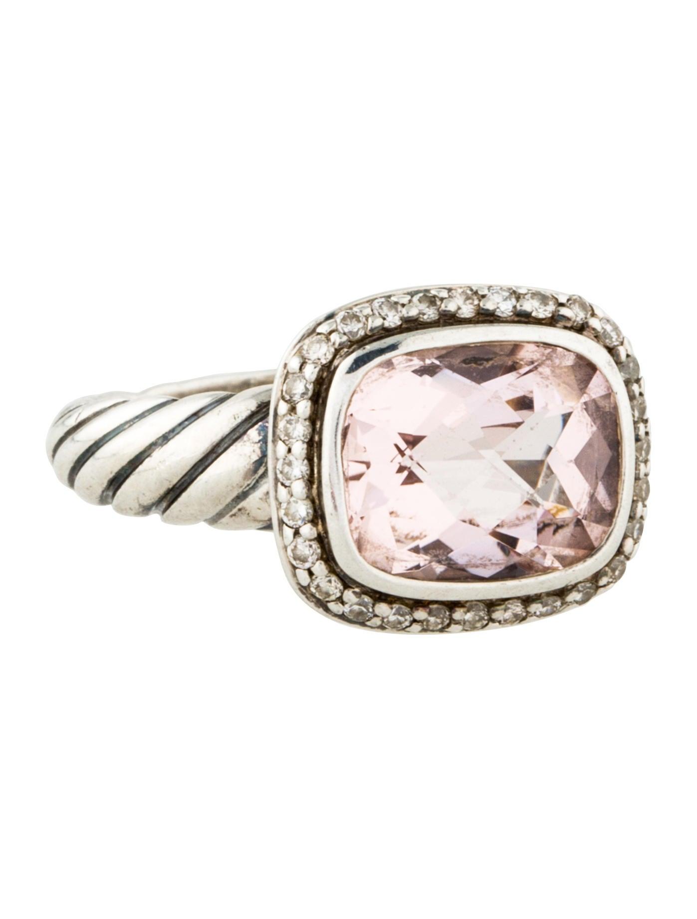 David yurman diamond morganite noblesse ring rings for David yurman inspired jewelry rings