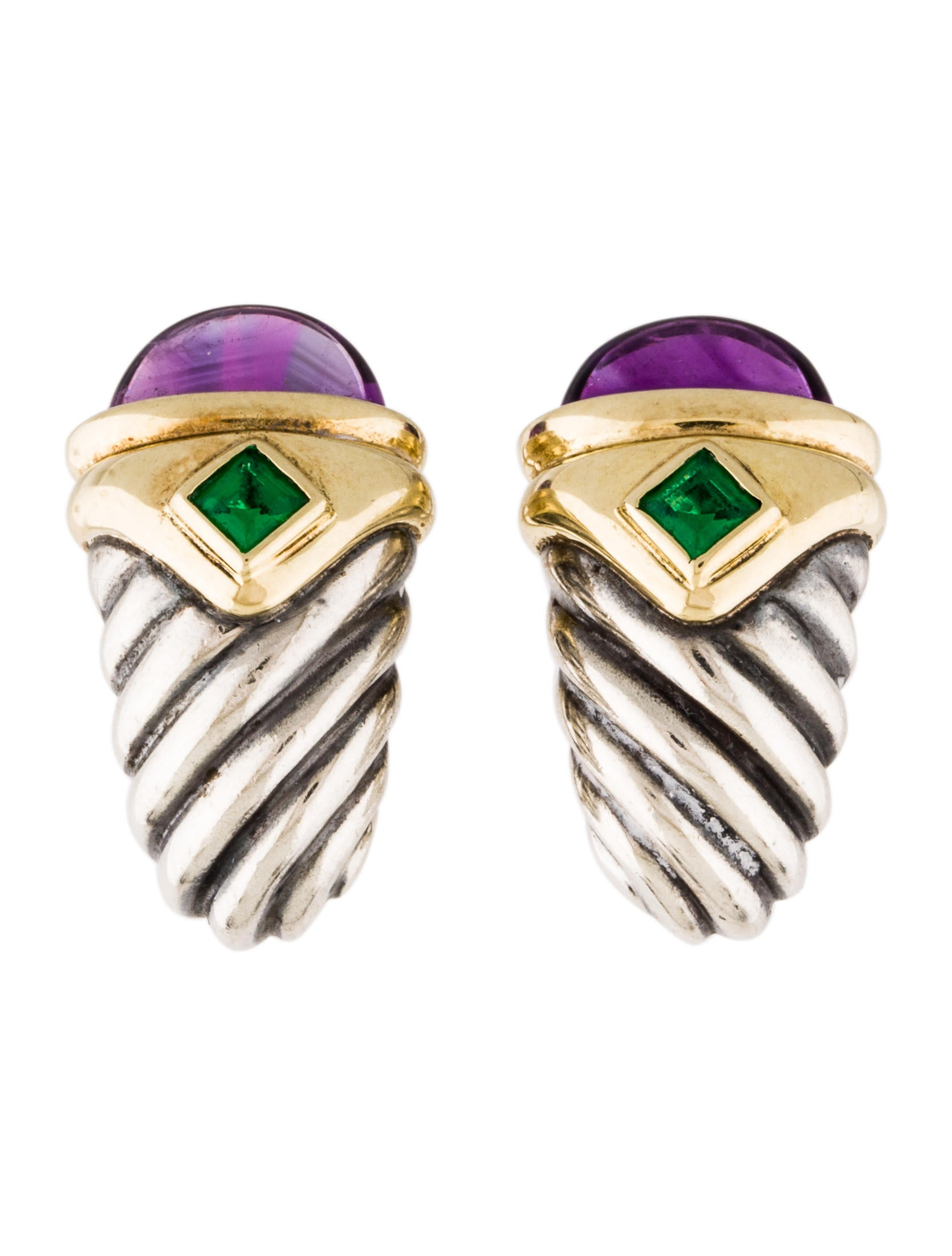 gold amethyst renaissance ring silver yurman emerald david sterling yellow