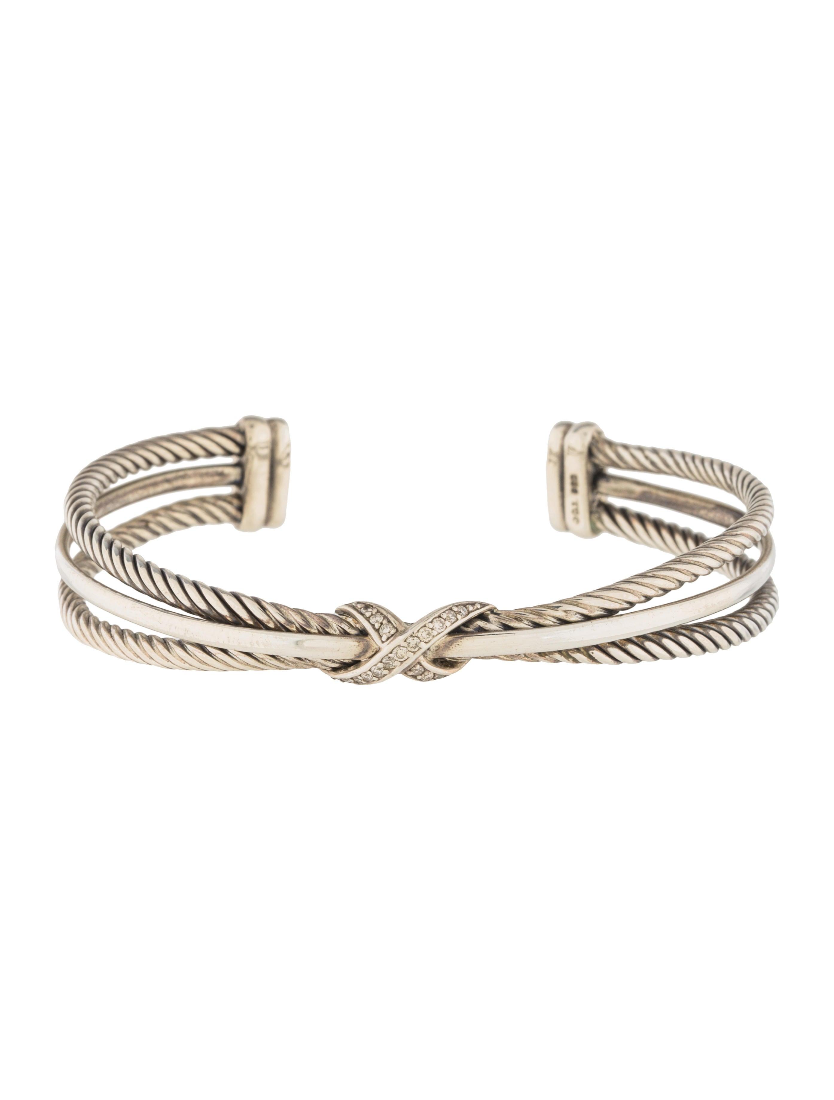 Diamond Crossover X Bracelet