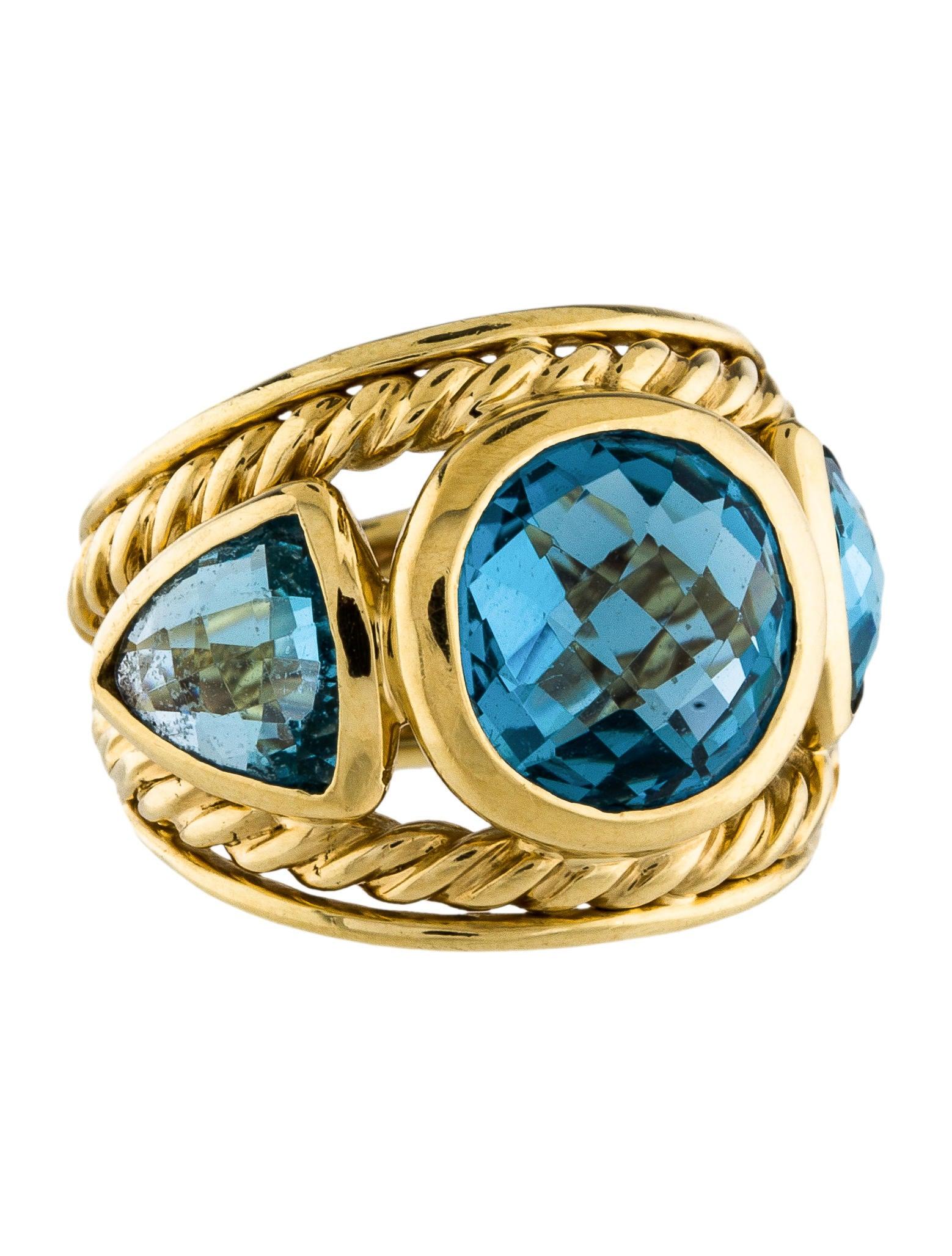 David yurman 18k topaz renaissance ring rings dvy41723 for David yurman inspired jewelry rings