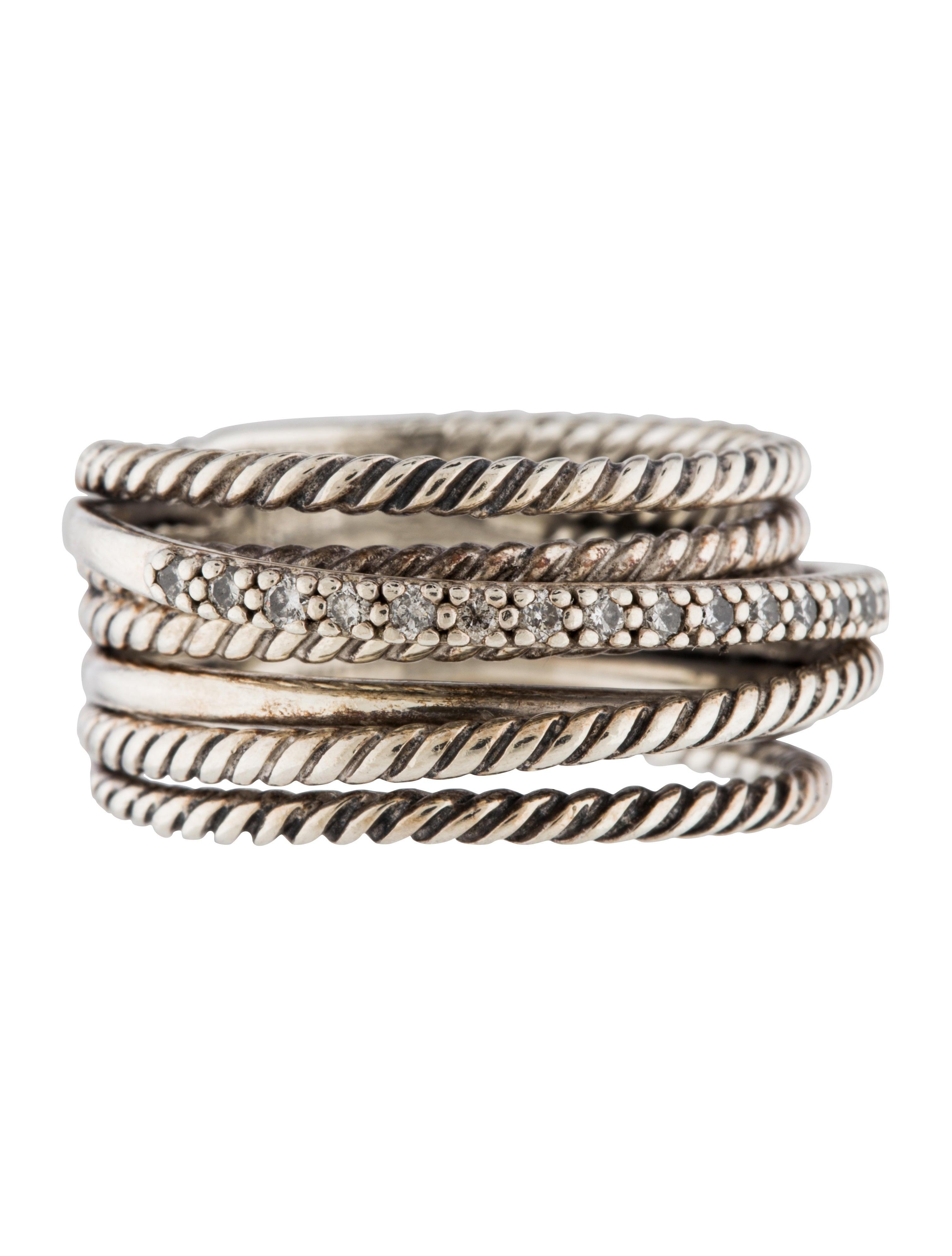 david yurman crossover wide ring rings