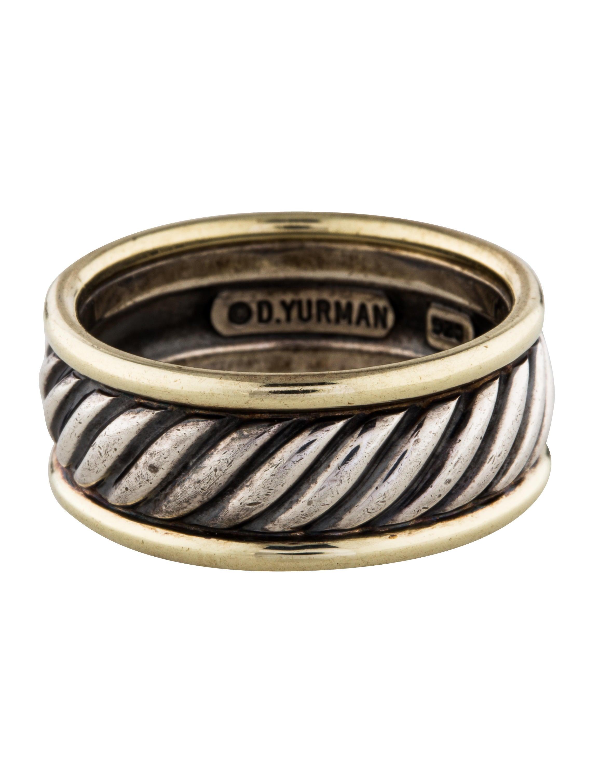 David yurman two tone cable band rings dvy41868 the for David yurman inspired jewelry rings