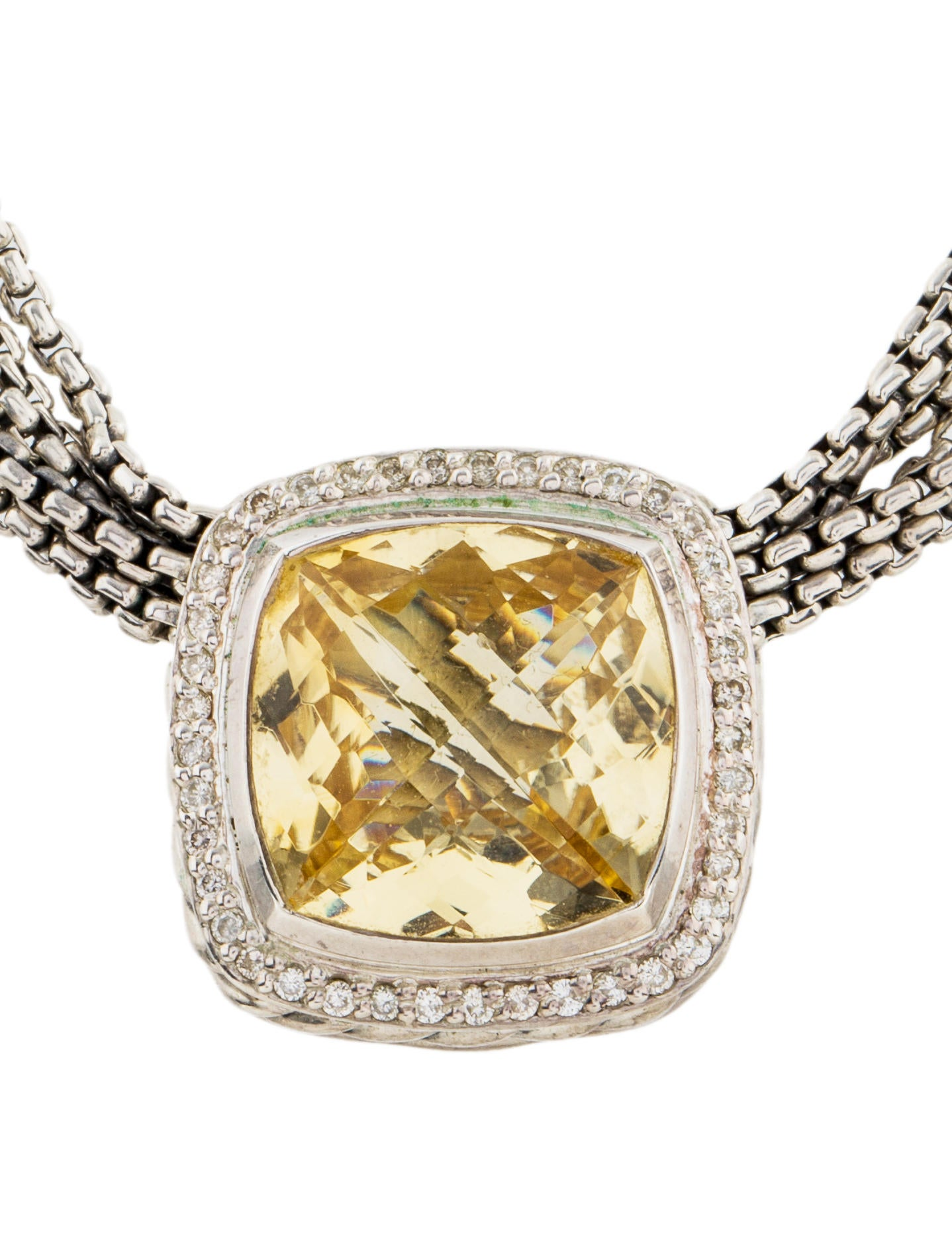 david yurman citrine diamond albion necklace necklaces