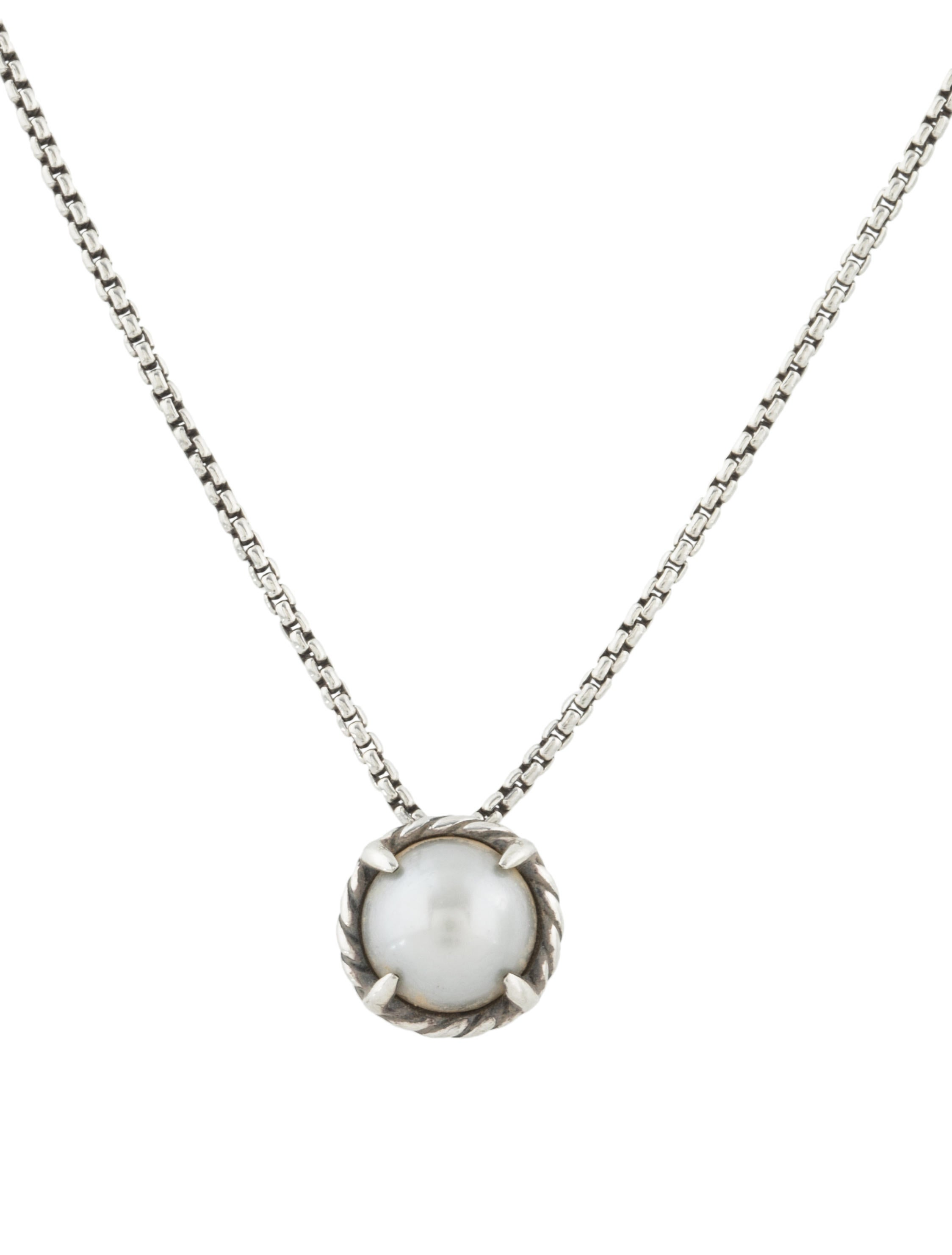 david yurman ch226telaine pearl pendant necklace necklaces