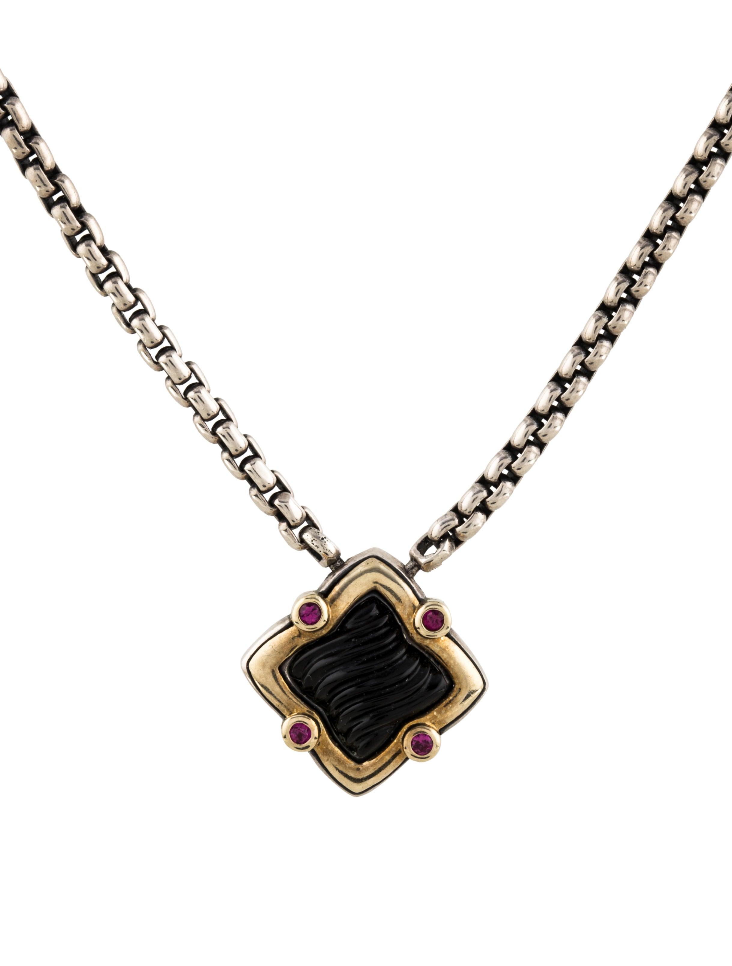 David Yurman Onyx & Ruby Quatrefoil Pendant Necklace. Honey Rings. Sofa Diamond. Libra Pendant. Round Pearls. Colored Stone Bracelet. Unicorn Pendant. Tribal Wedding Rings. Safe Bands