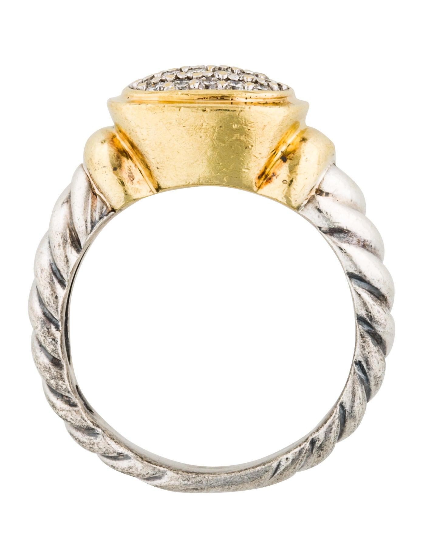 David yurman two tone noblesse ring rings dvy42248 for David yurman inspired jewelry rings