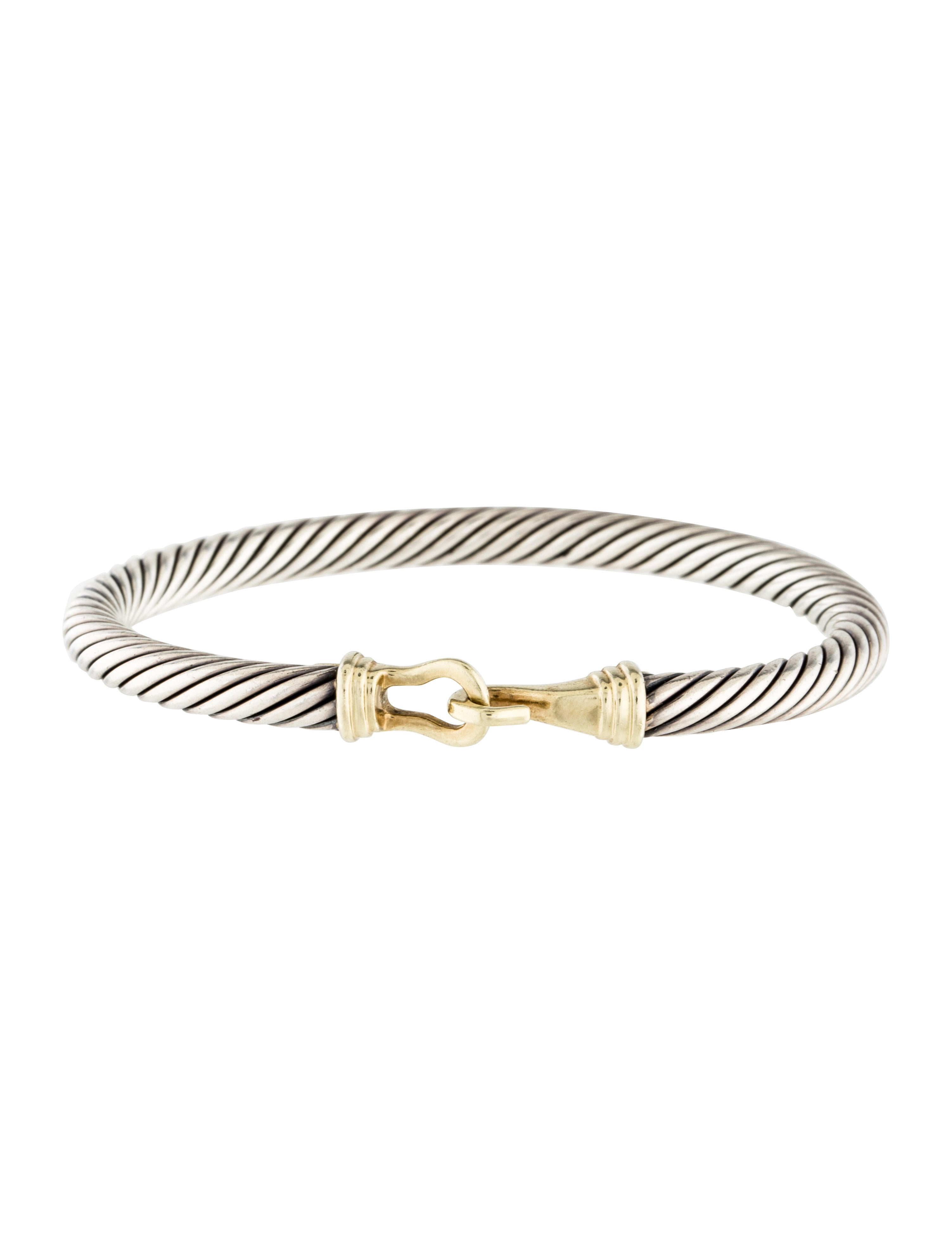 David yurman two tone cable classics buckle bracelet for David yurman inspired bracelet cable