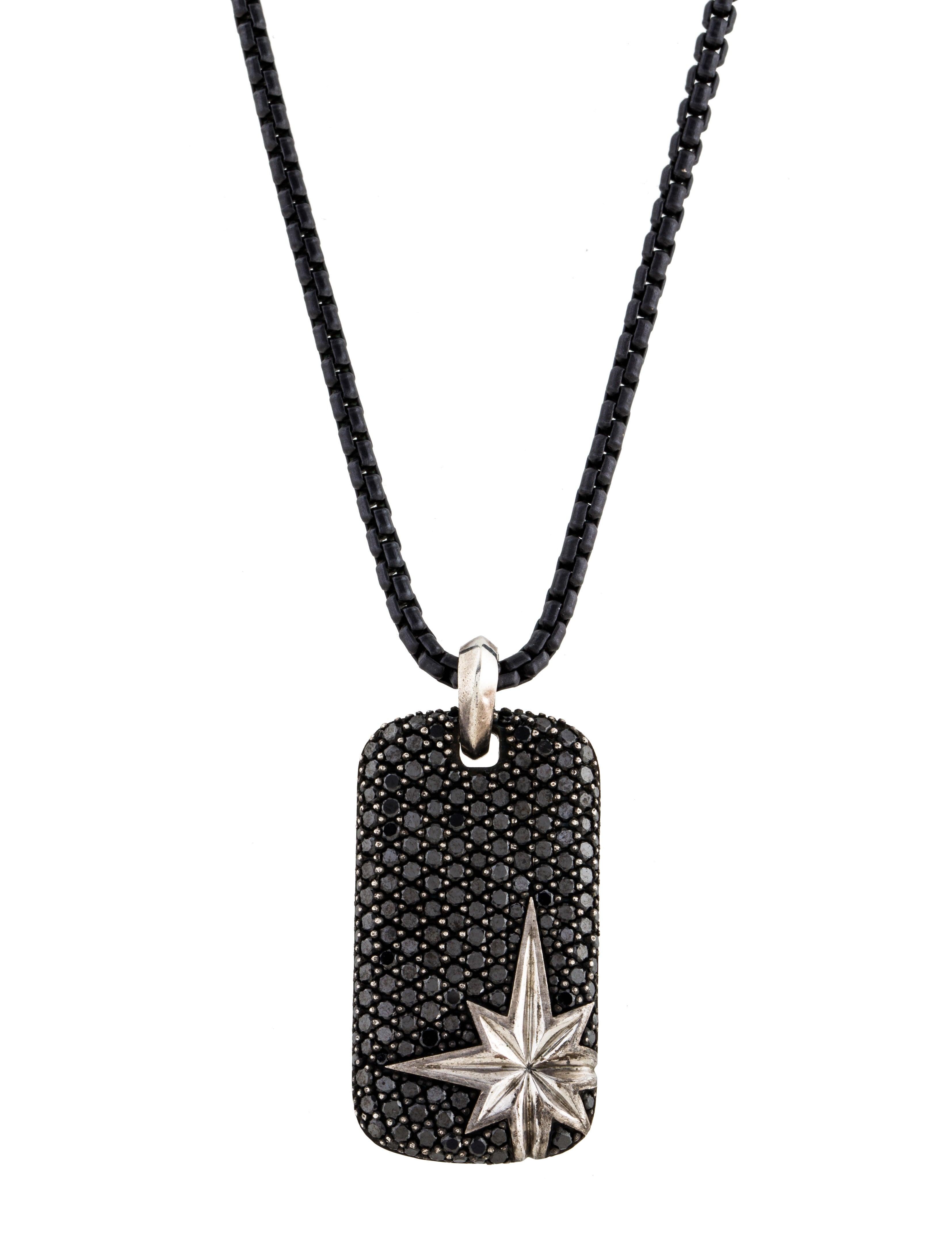 David yurman black diamond maritime north star pendant for Star hallmark on jewelry
