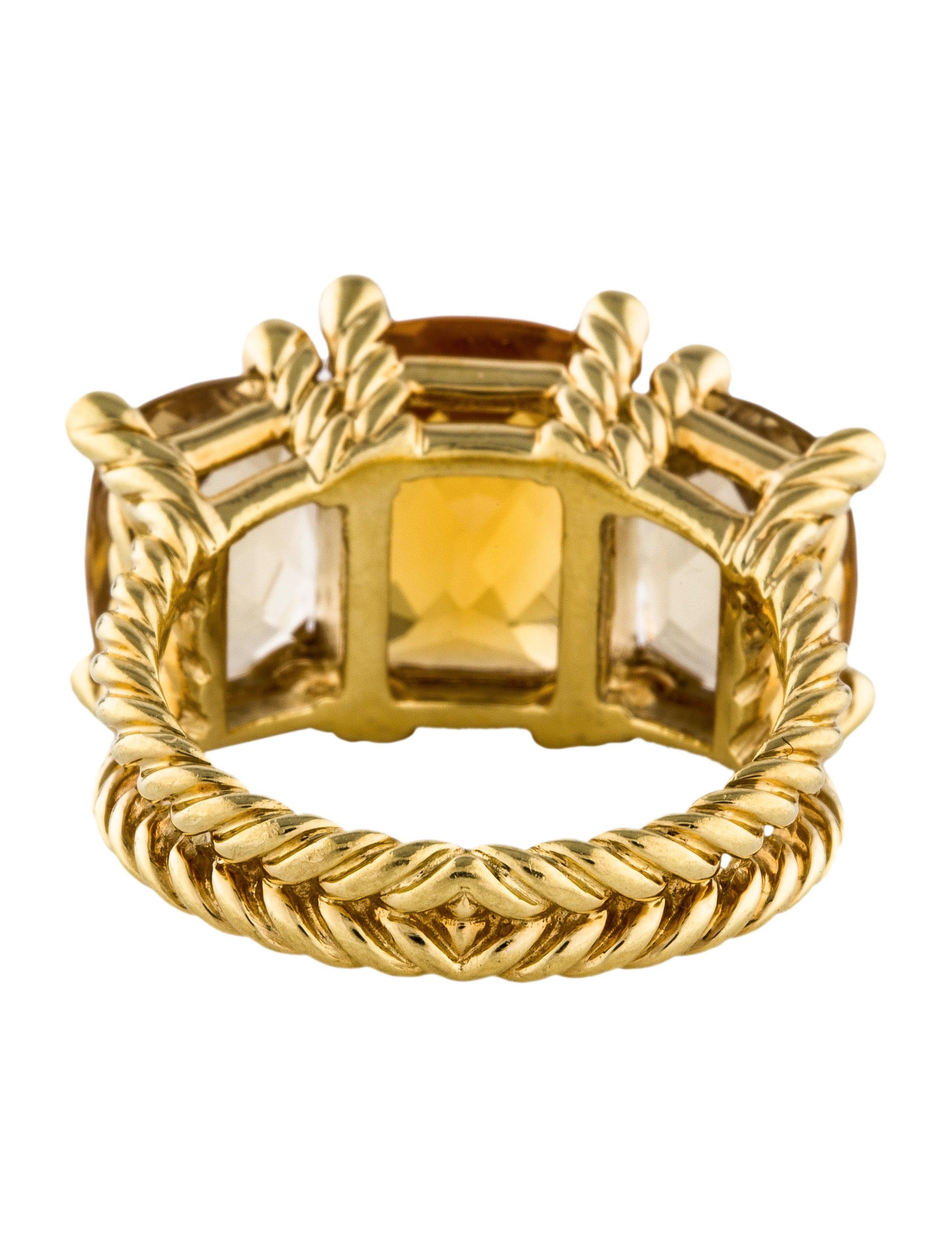 David yurman citrine wheaton three stone ring rings for David yurman inspired jewelry rings