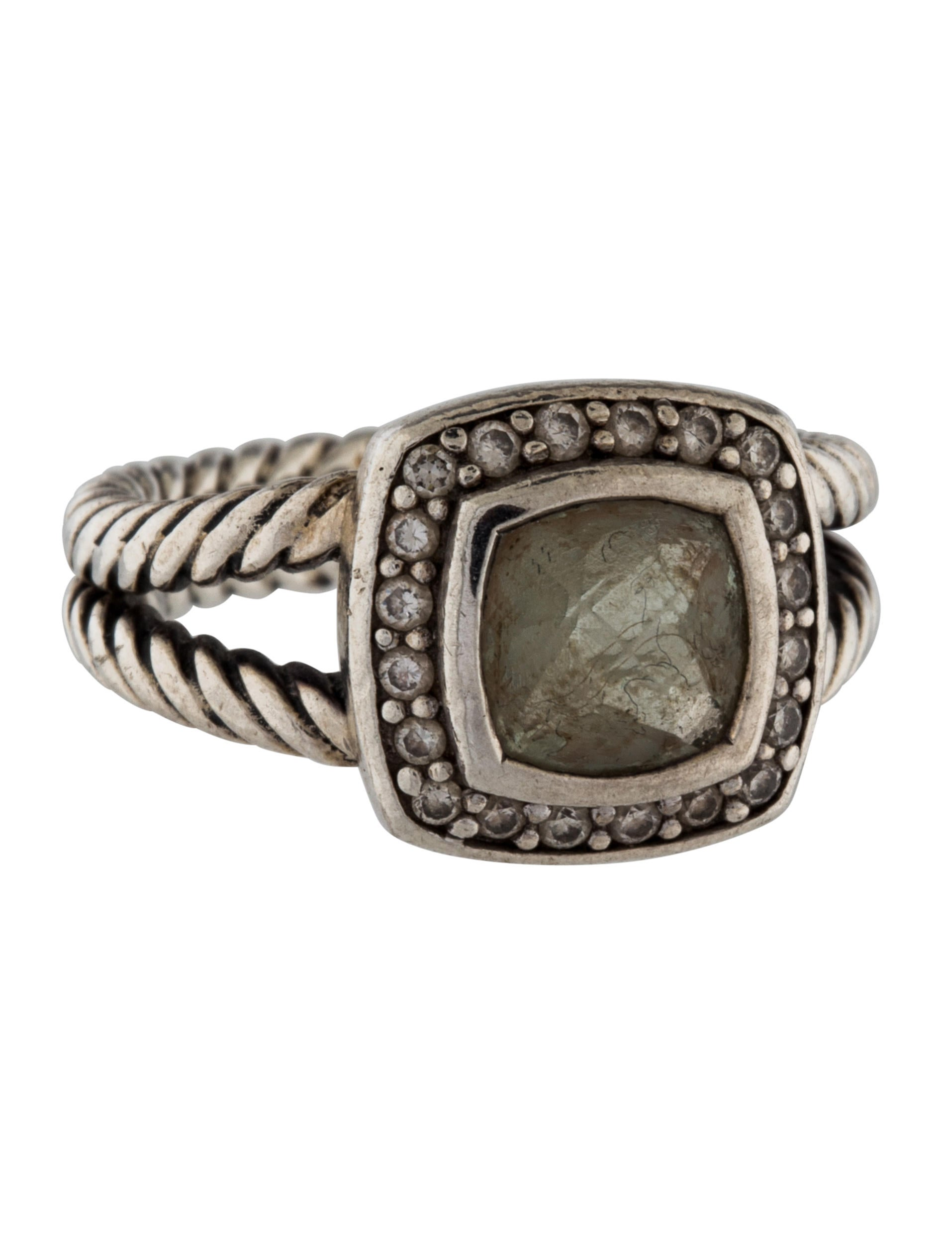 David yurman prasiolite diamond petite albion ring for David yurman inspired jewelry rings