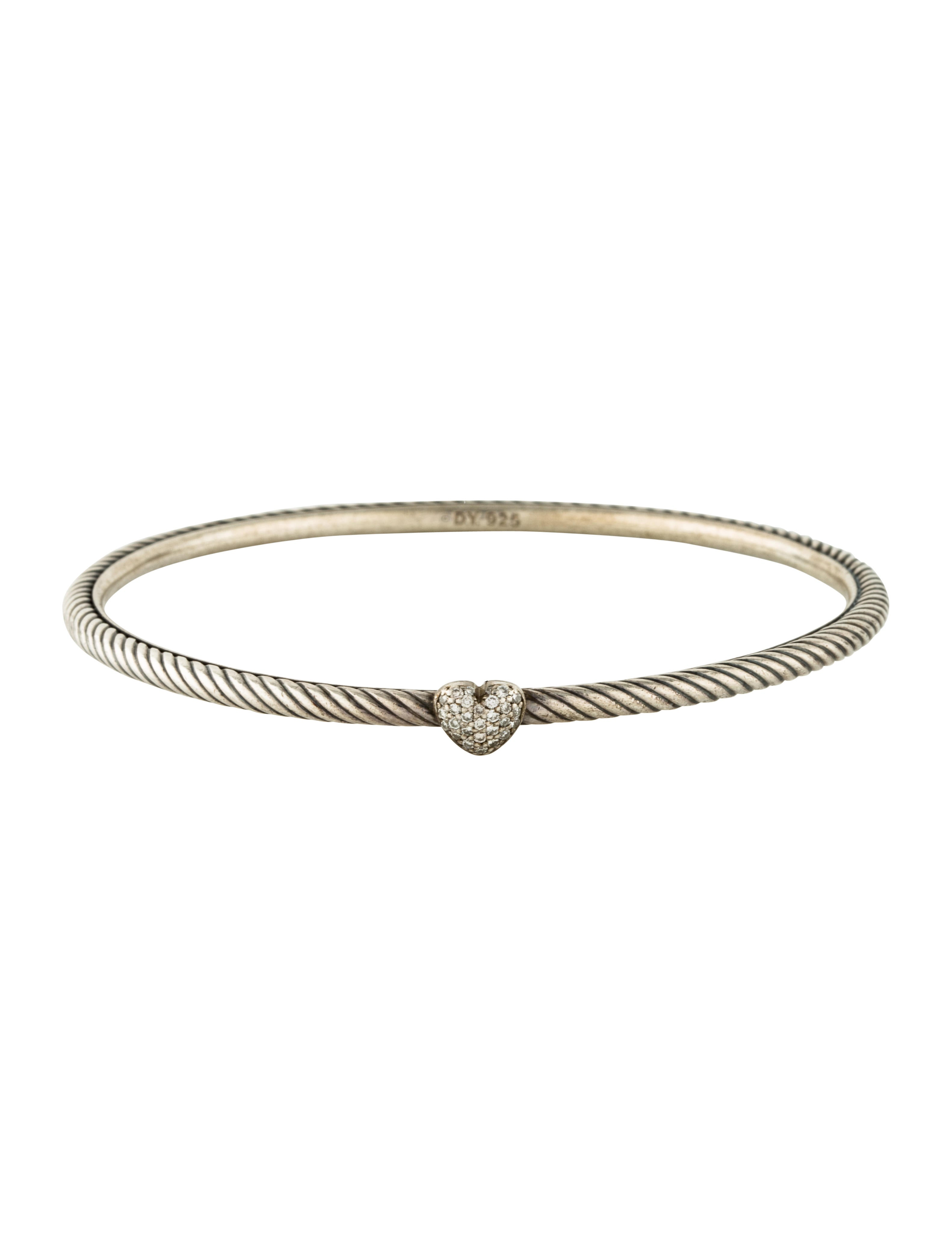 David yurman cable collectibles heart bracelet bracelets for David yurman inspired bracelet cable