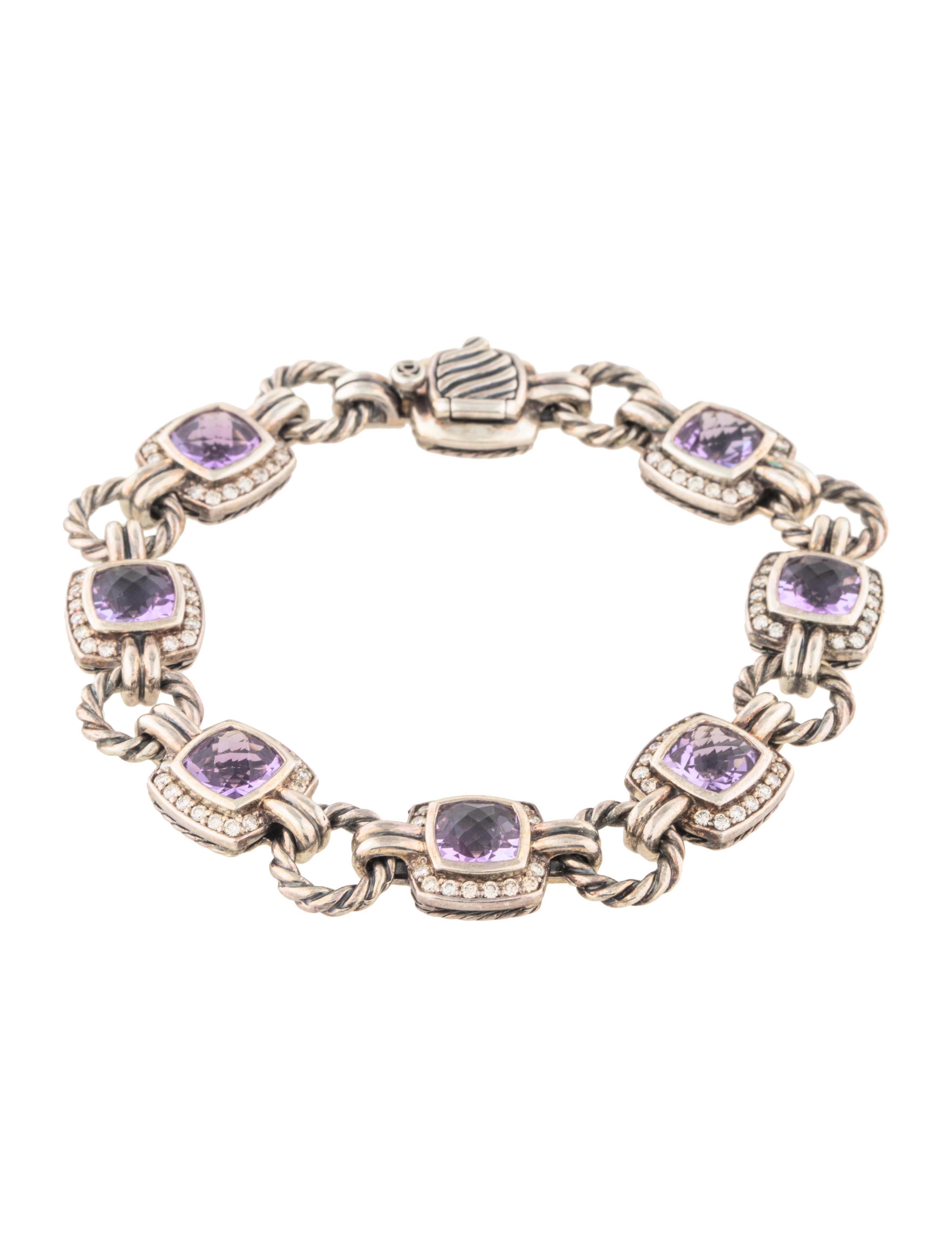 David Yurman Amethyst Diamond Renaissance Bracelet Bracelets Dvy42883 The Realreal