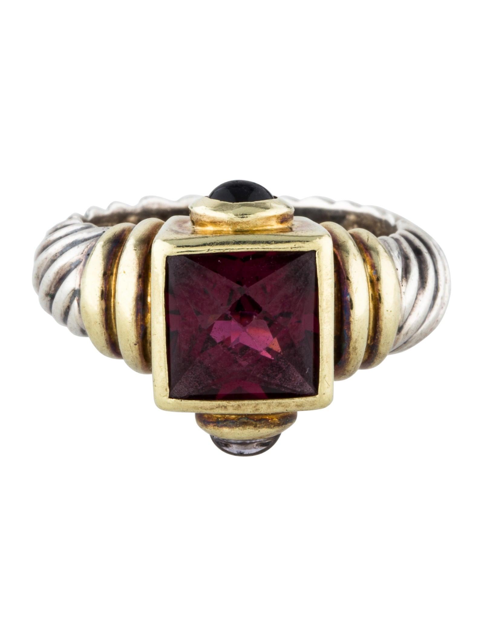David yurman tourmaline iolite renaissance ring rings for David yurman inspired jewelry rings