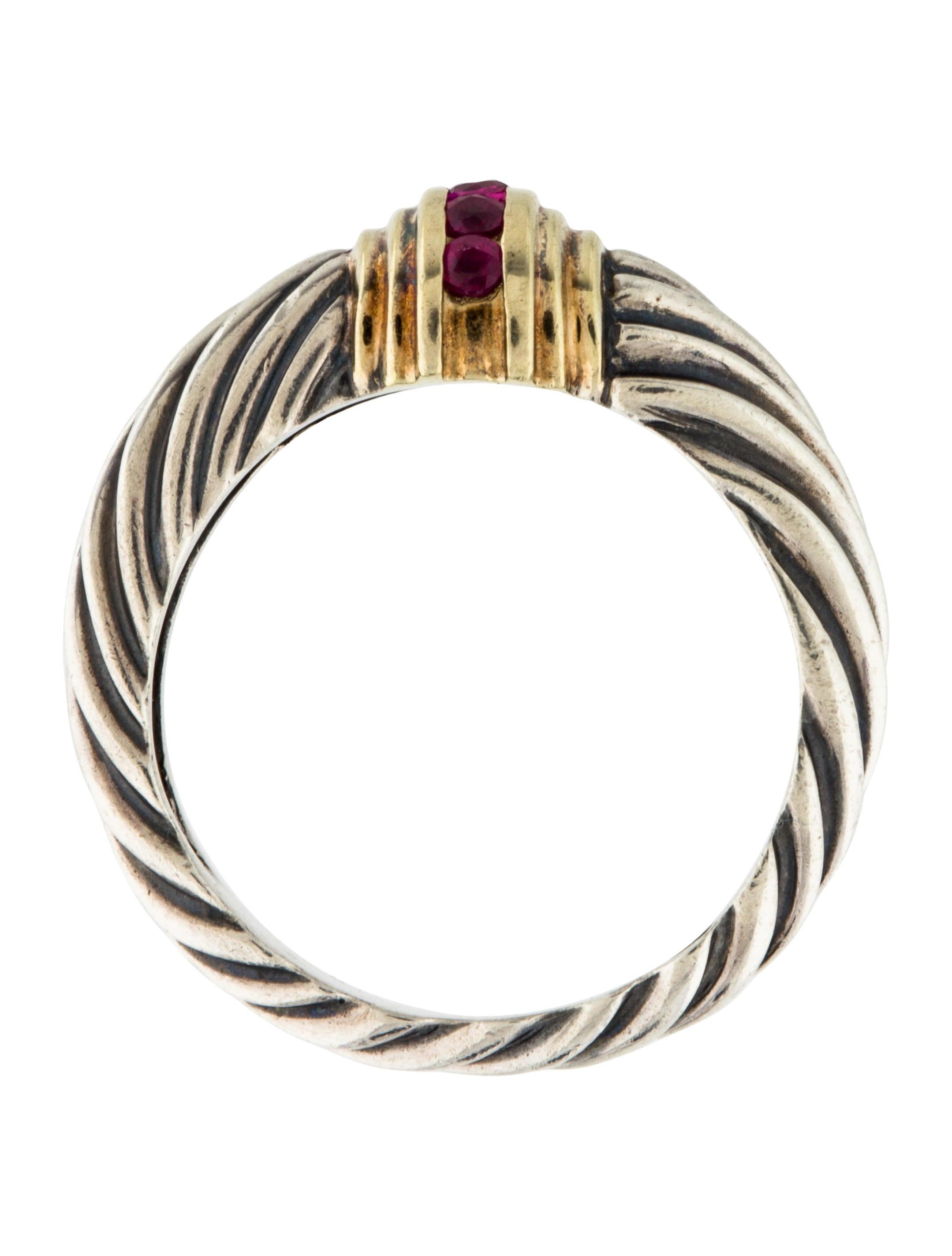 David yurman ruby cable ring rings dvy43055 the realreal for David yurman inspired jewelry rings