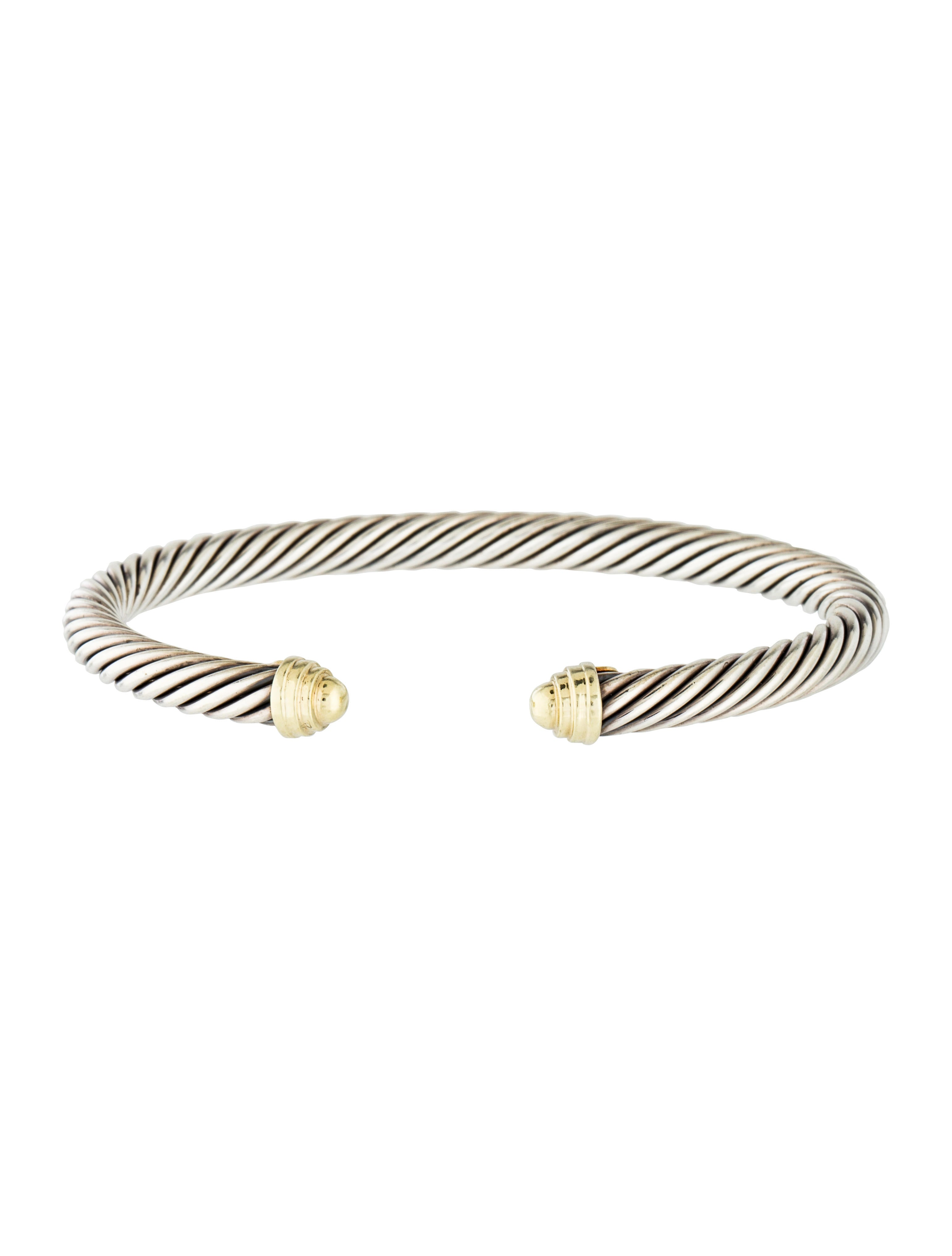 David yurman two tone cable classics bracelet bracelets for David yurman inspired bracelet cable