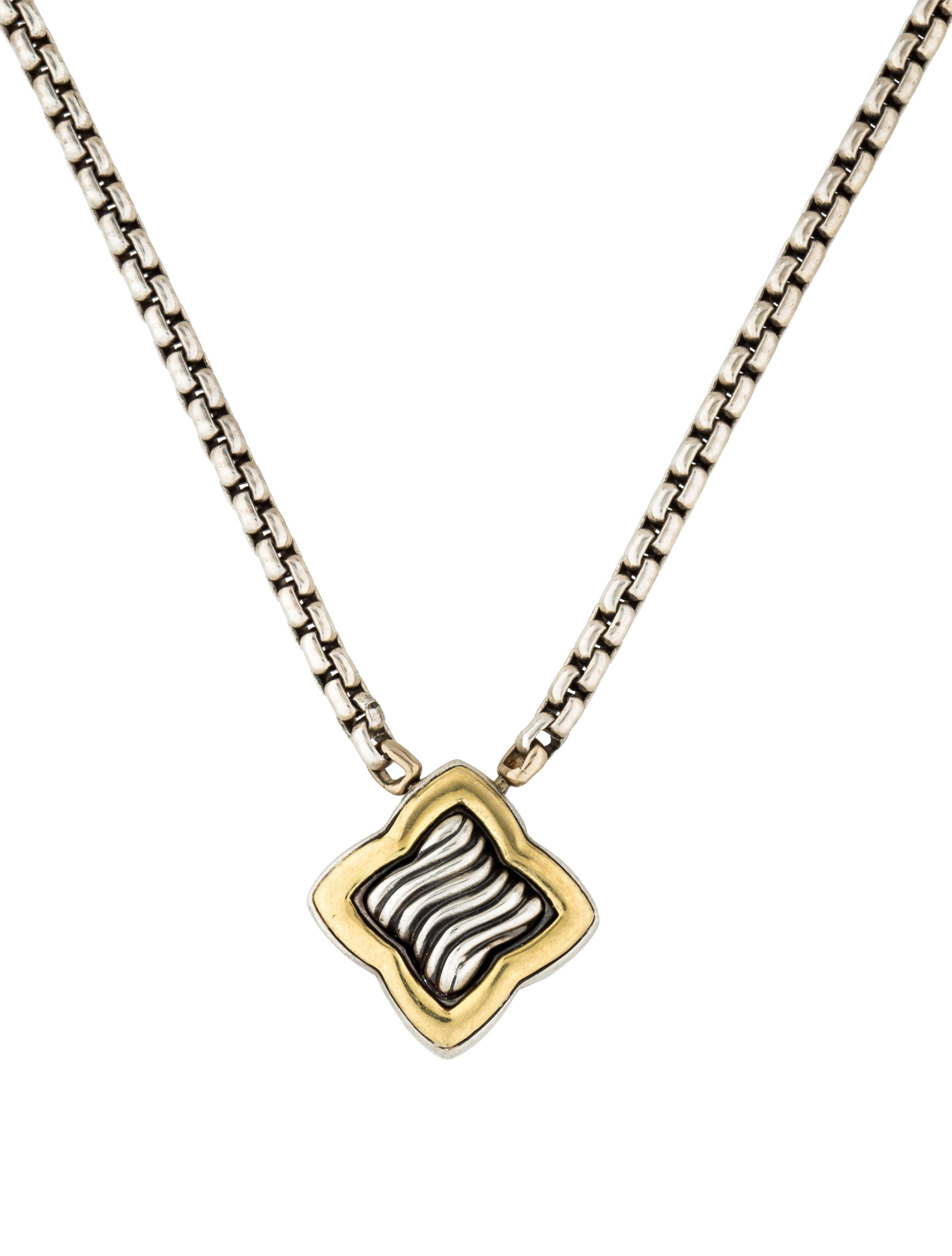 David Yurman Cable Quatrefoil Pendant Necklace  Necklaces. Marcasite Jewelry. Dark Sapphire. Cute Bangle Bracelets. Radiant Cut Engagement Rings. Opal Diamond. Micro Pave Diamond. Sparkly Diamond. Single Pendant Necklace
