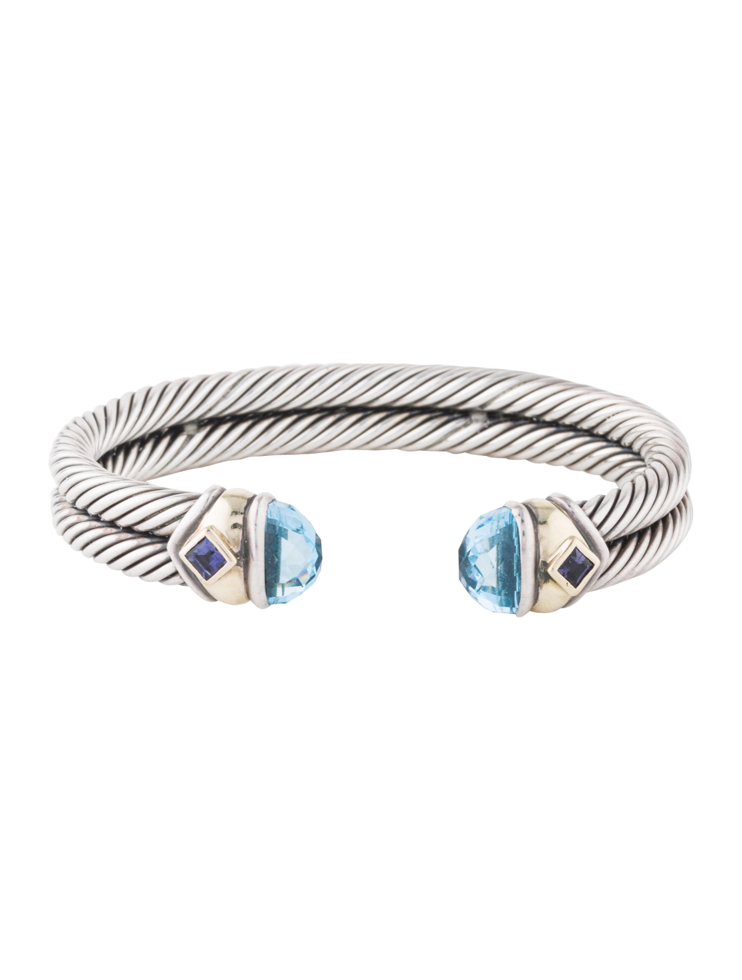 David yurman double cable renaissance bracelet bracelets for David yurman inspired bracelet cable
