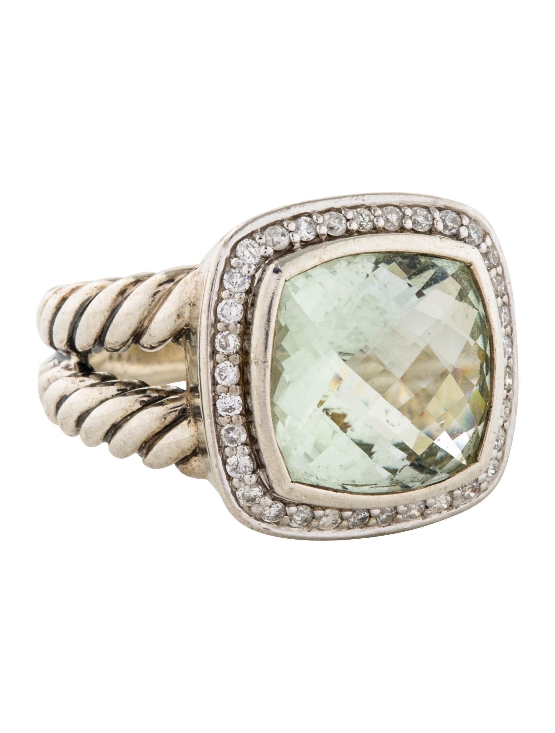 David yurman prasiolite diamond albion cocktail ring for David yurman inspired jewelry rings