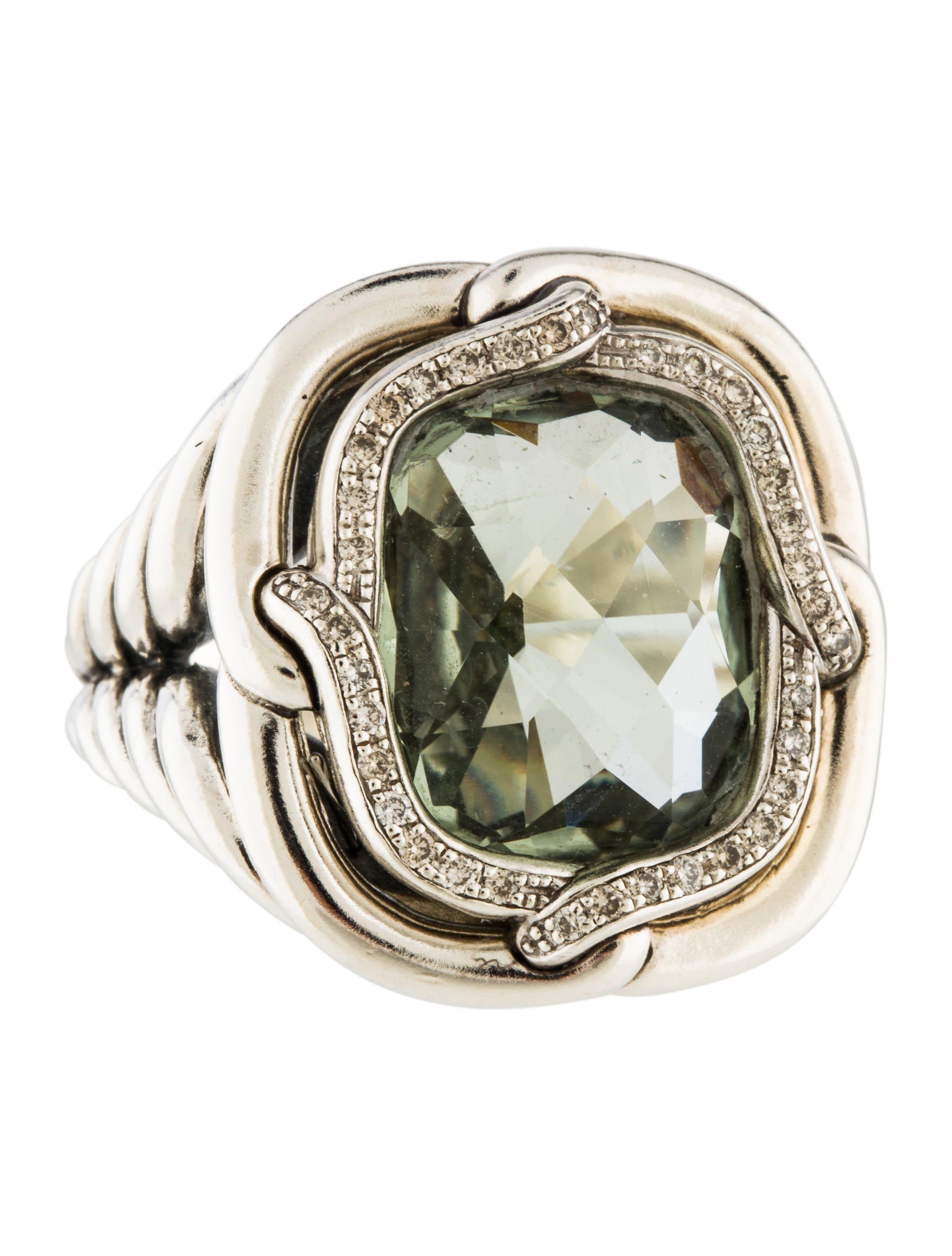 David yurman prasiolite diamond labyrinth ring rings for David yurman inspired jewelry rings