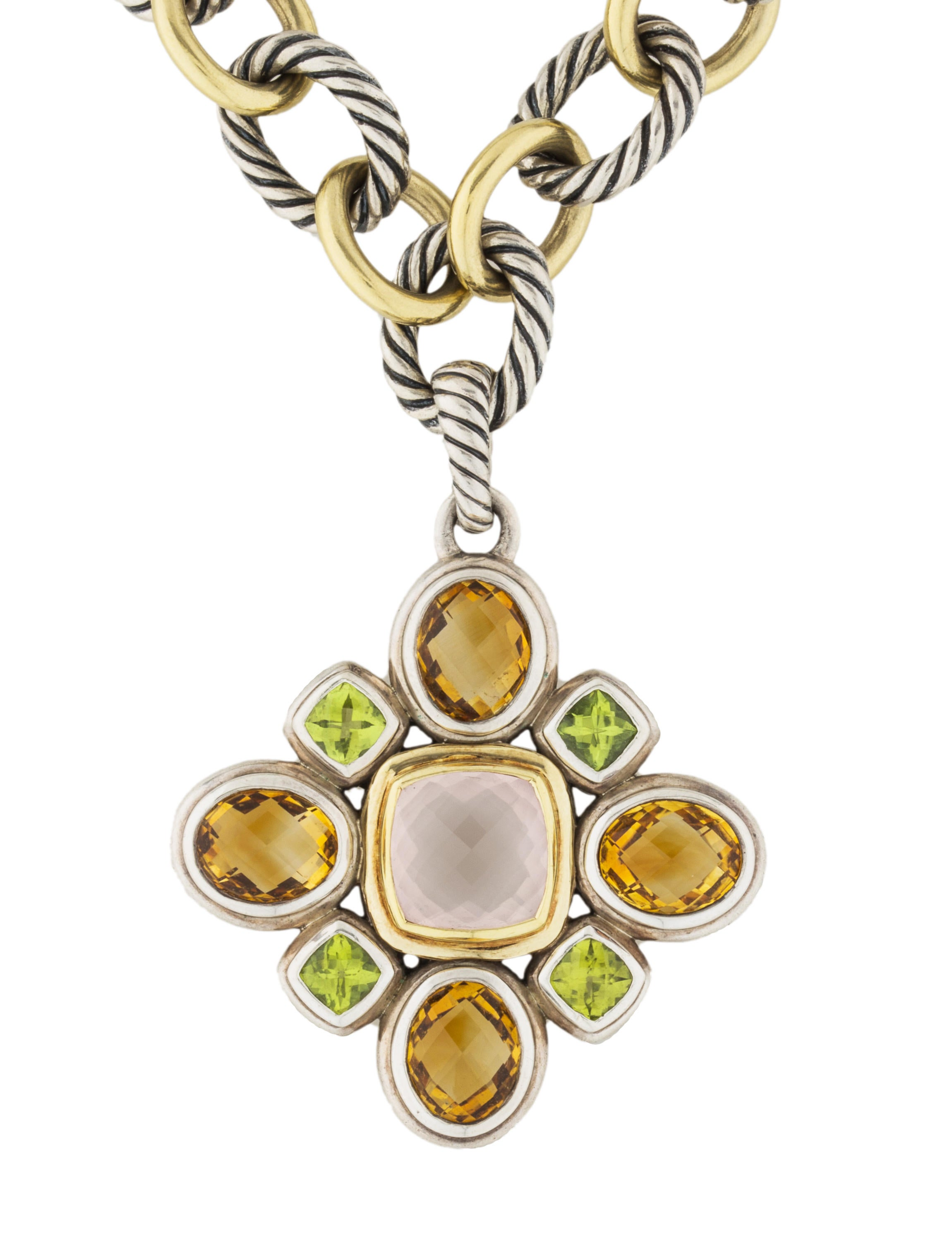 products handmade stones necklace maile citrine pendant