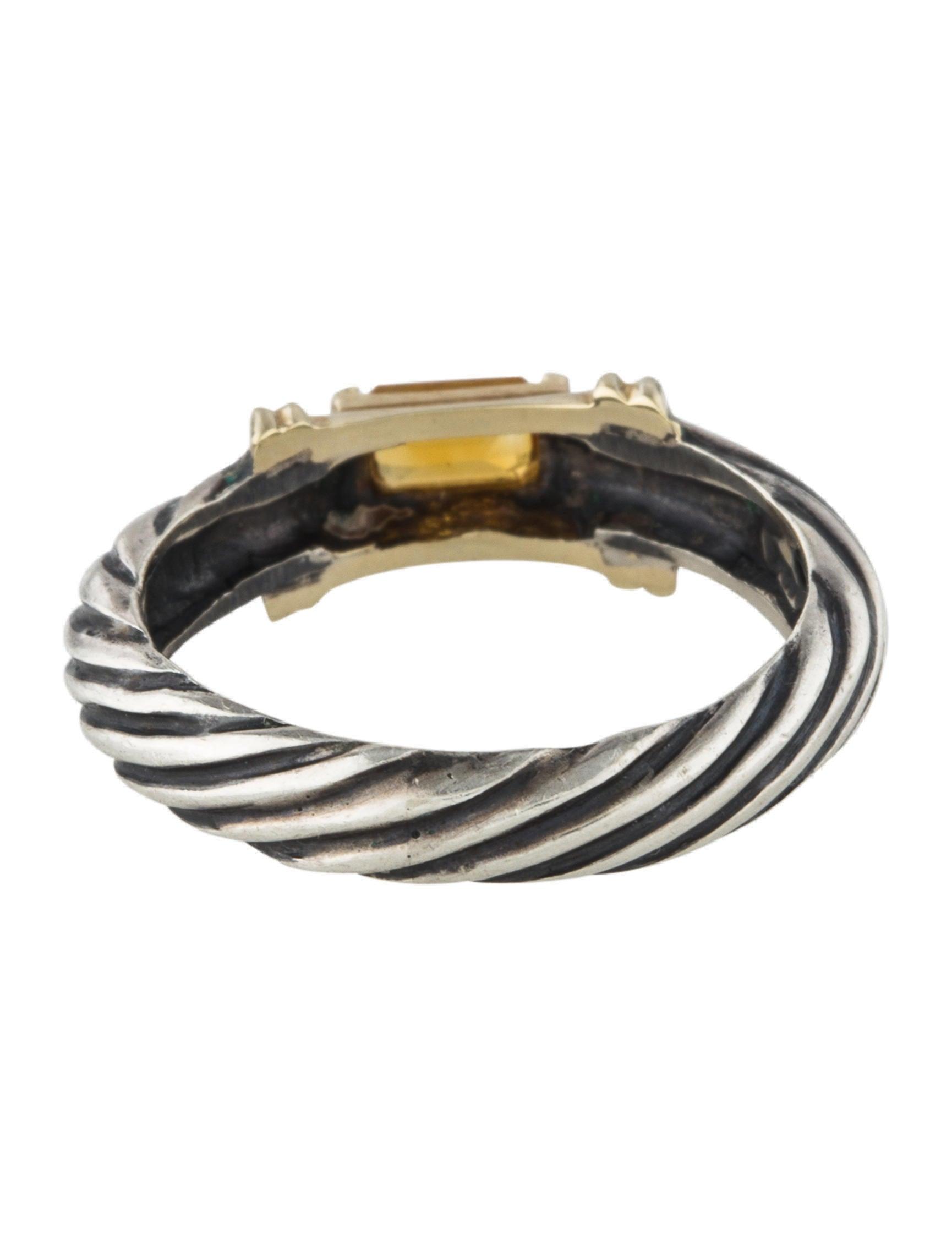 David yurman citrine cable ring rings dvy43736 the for David yurman inspired jewelry rings