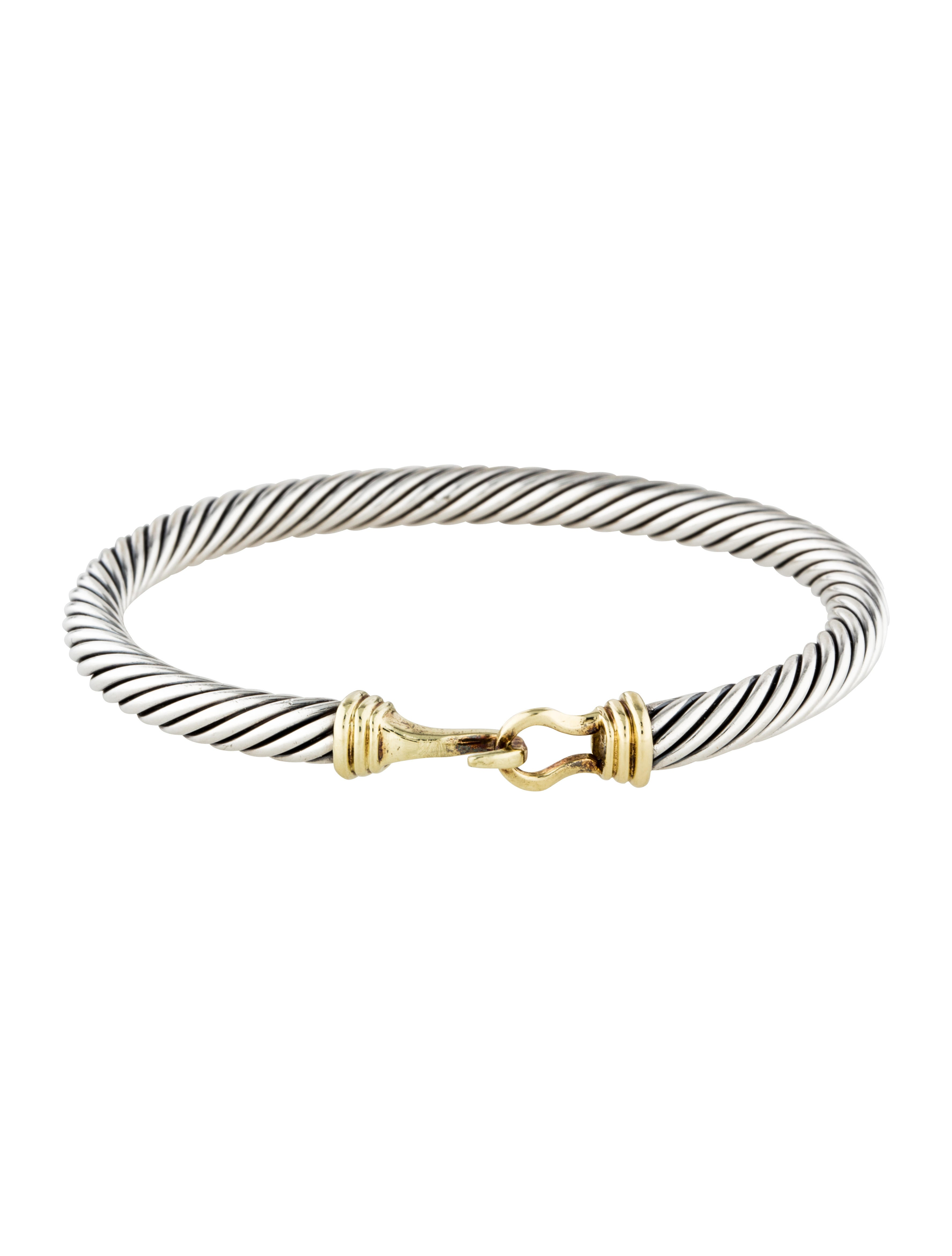David yurman two tone cable classic buckle bracelet for David yurman inspired bracelet cable